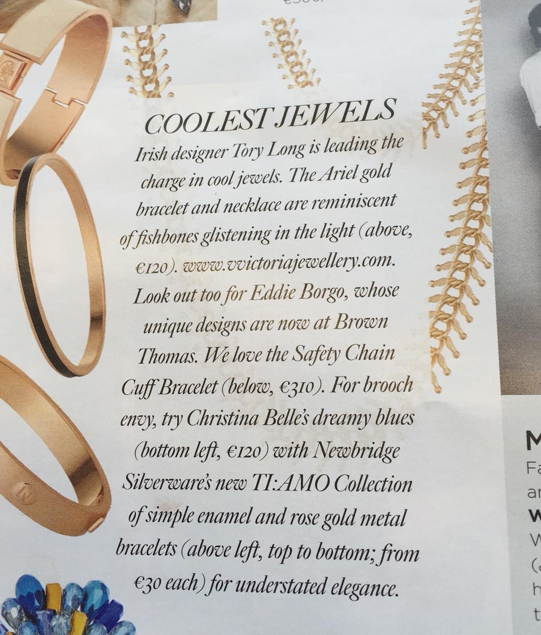 Gloss Magazine November 2015 - Mentioned in the Irish Times Gloss Magazine November 2015
