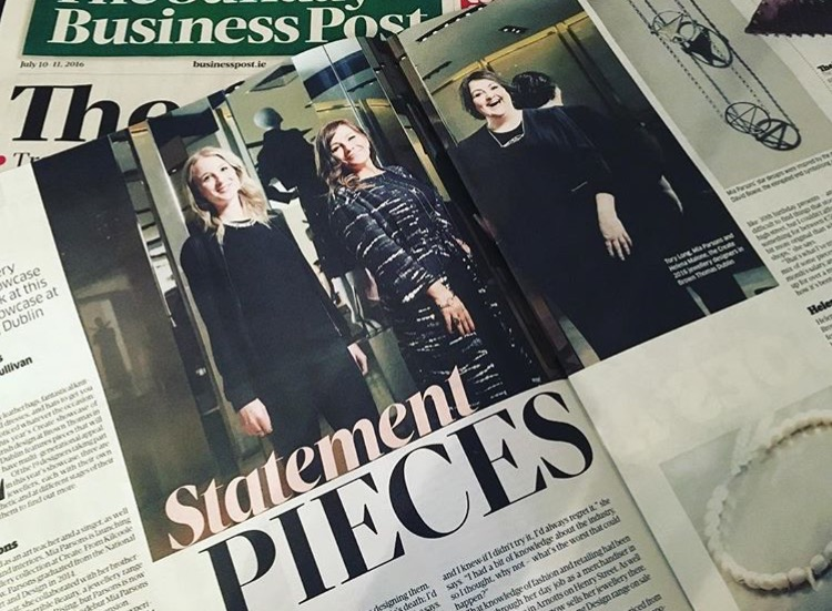 Sunday Business Post July 2016 - Featured in the Sunday Business Post to promote Brown Thomas Create July 2016.