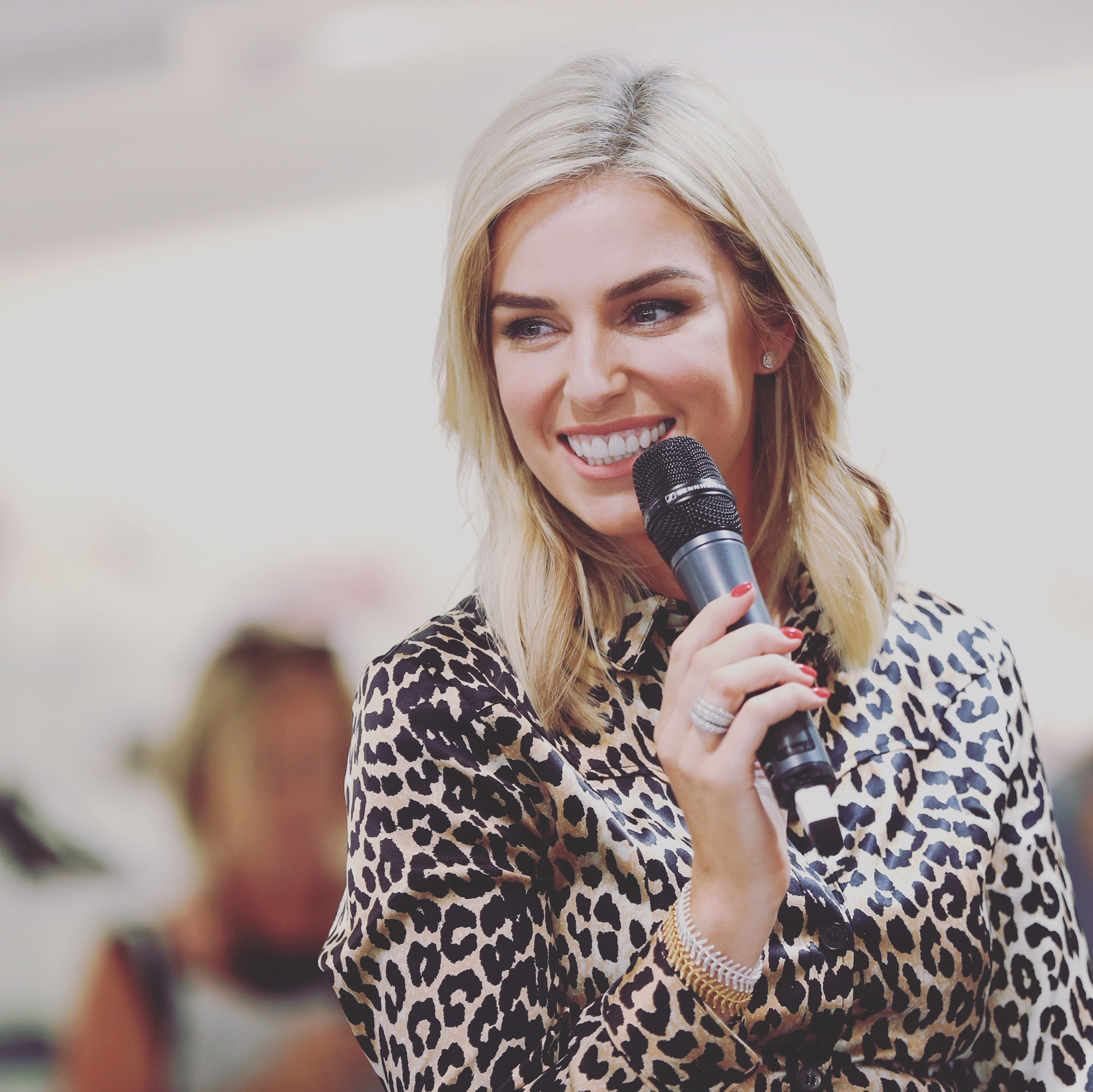 AS worn by Pippa O'Connor in Arnotts - Pippa O'Connor layering up the Gold and Silver Ariel bracelets at Arnotts fashion event