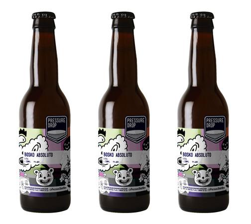 'Bosko Absoluto' Beer Label for Pressure Drop Brewing, 2015