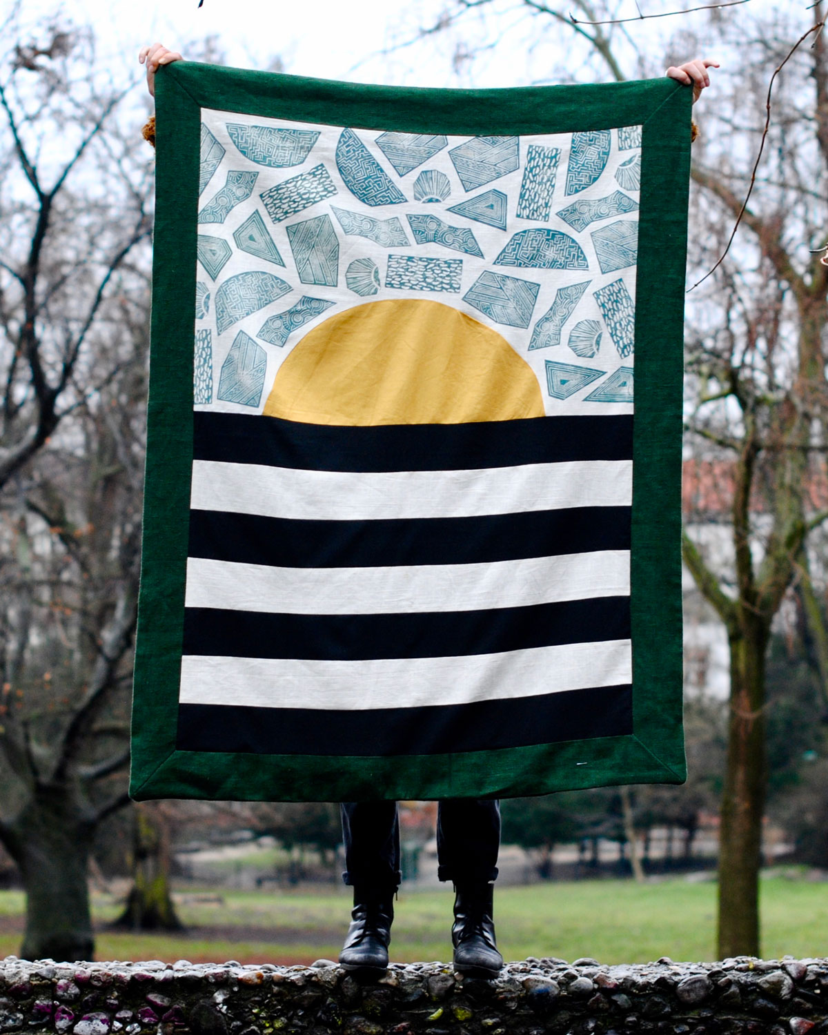 Sun and Stripes by OOY x Print and Border by Ravel