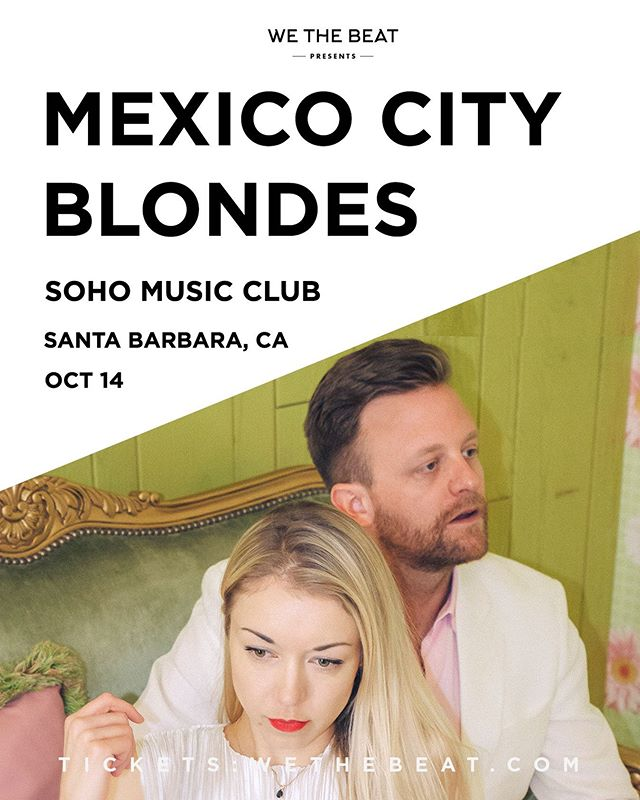 SB friends, we're very excited to be playing Soho on 9/14. Tickets available at the link in bio. Also be sure to tune in to @929kjee tonight at 7pm :)