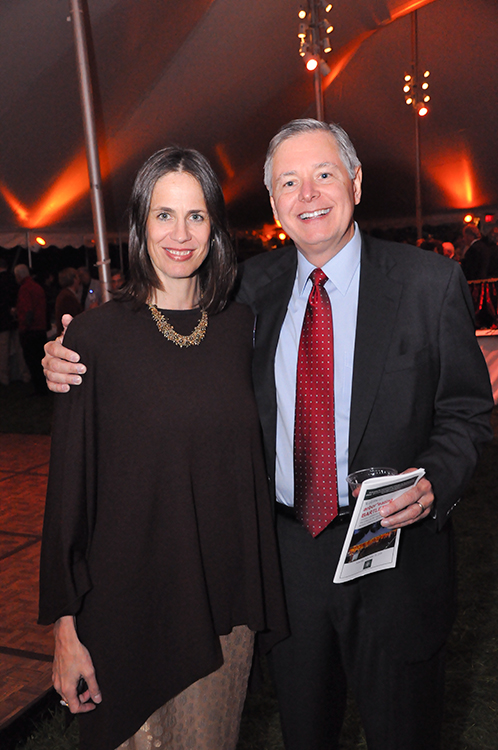 Kate Urbank (left) with Stamford Board of Representatives President (2009) and current Stamford mayor (2013-) David Martin
