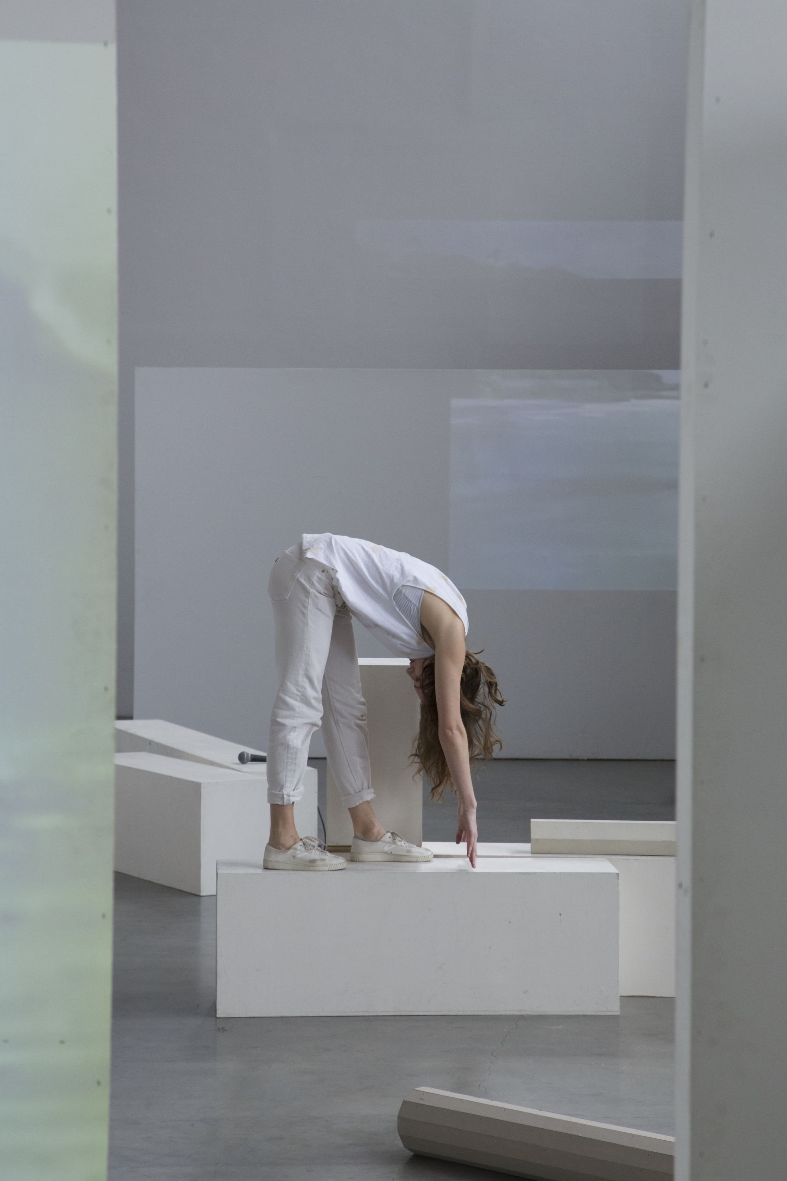 Photo:  Performance view of  Living Room Index and Pool  ,  Lauren    Bakst  and Yuri Masnyj, 2015.
