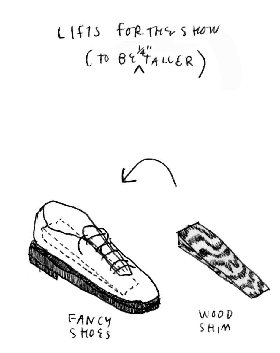 Pharoahs Wear These Kind of Shoes,     bic pen on paper in sketchbook