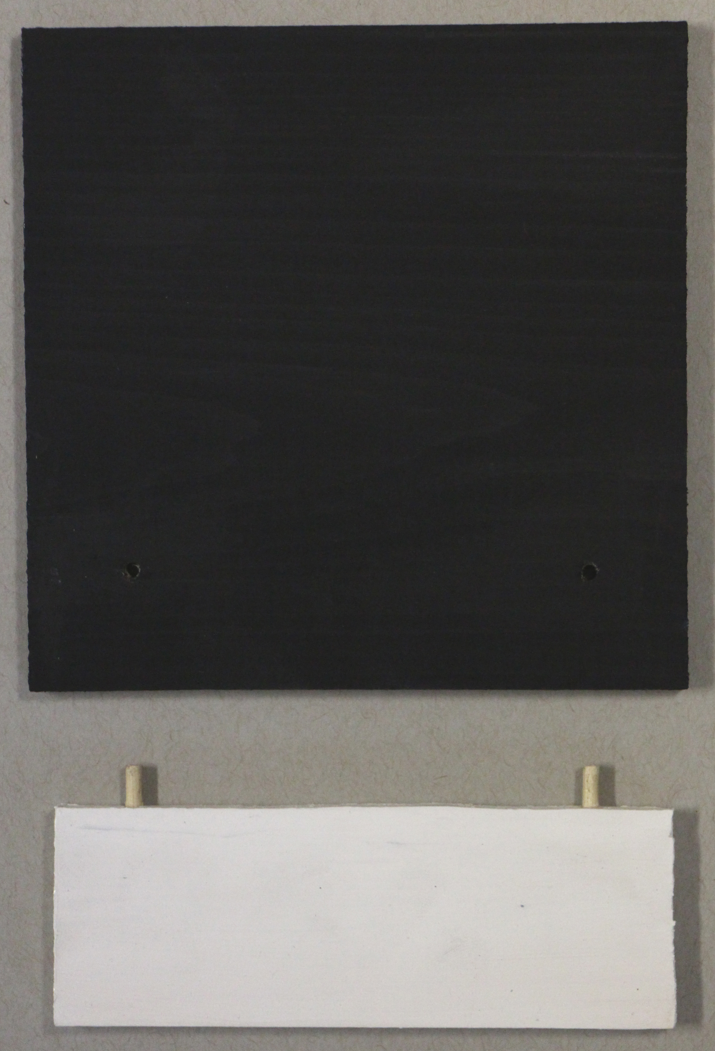 Luke Hampton    Untitled   gesso on wood  4 x 4 x 1.5 inches  edition of 10 (various prices)