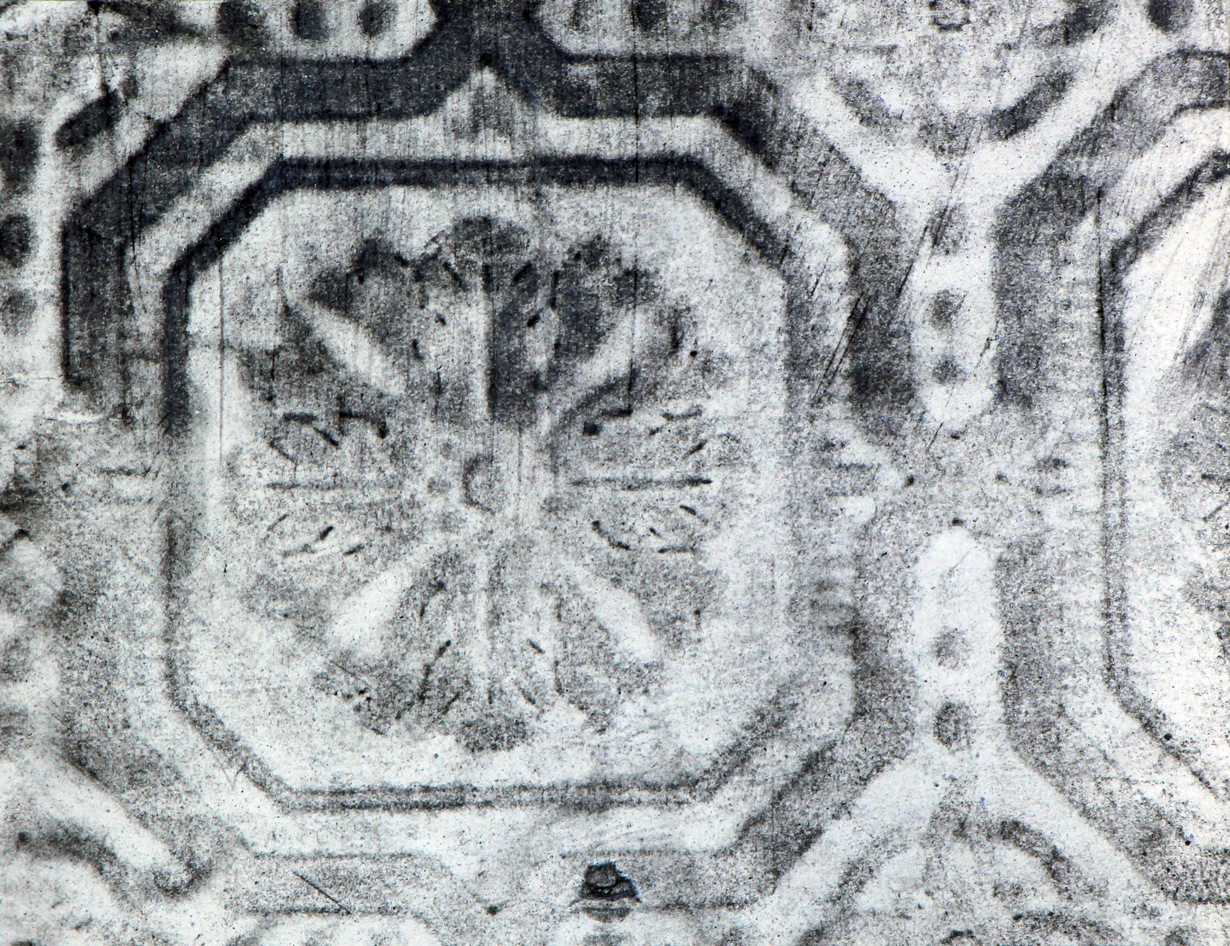 Tony Lewis    untitled , 2014  graphite powder on wallpaper  approximately 5.5 x 7 inches  edition of 10
