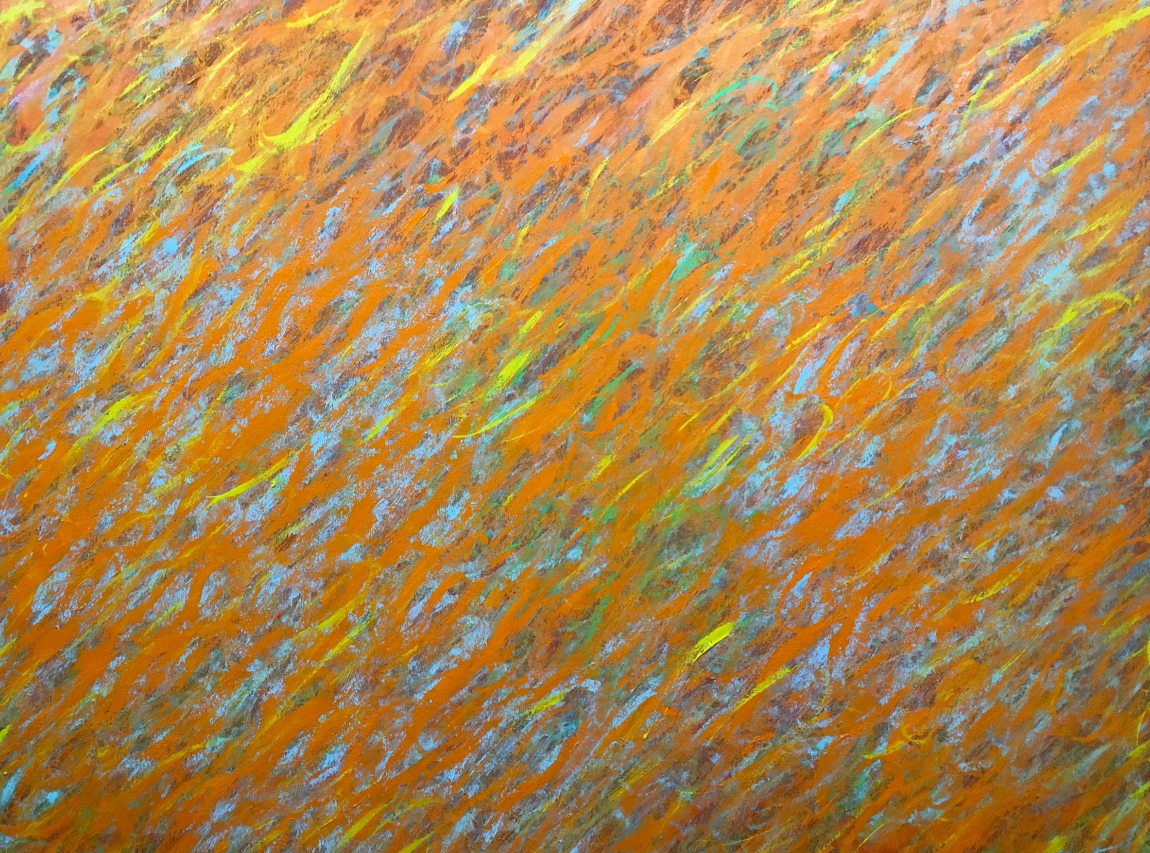 "Wild Honey,  48x62"", Acrylic on canvas. 2018"