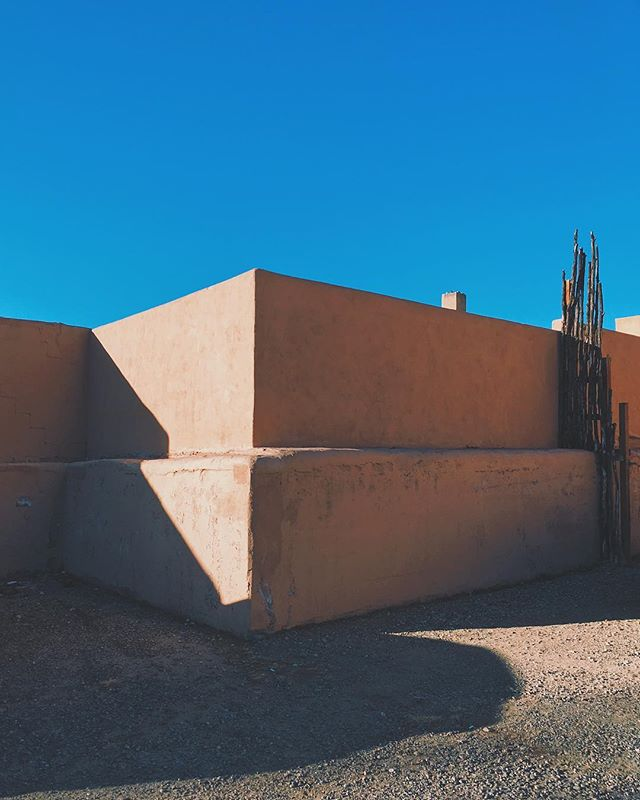 even the parking lots are lovely in taos...