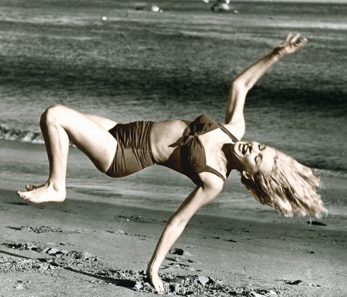 Miss Marilyn gleefully showing off her imperfect form