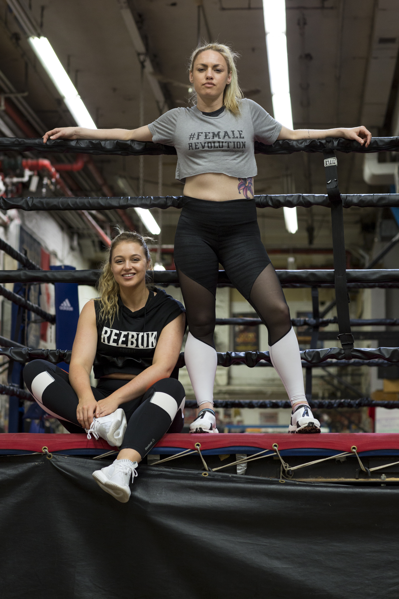 Iskra & Heather Hardy at Church Street Boxing Gym