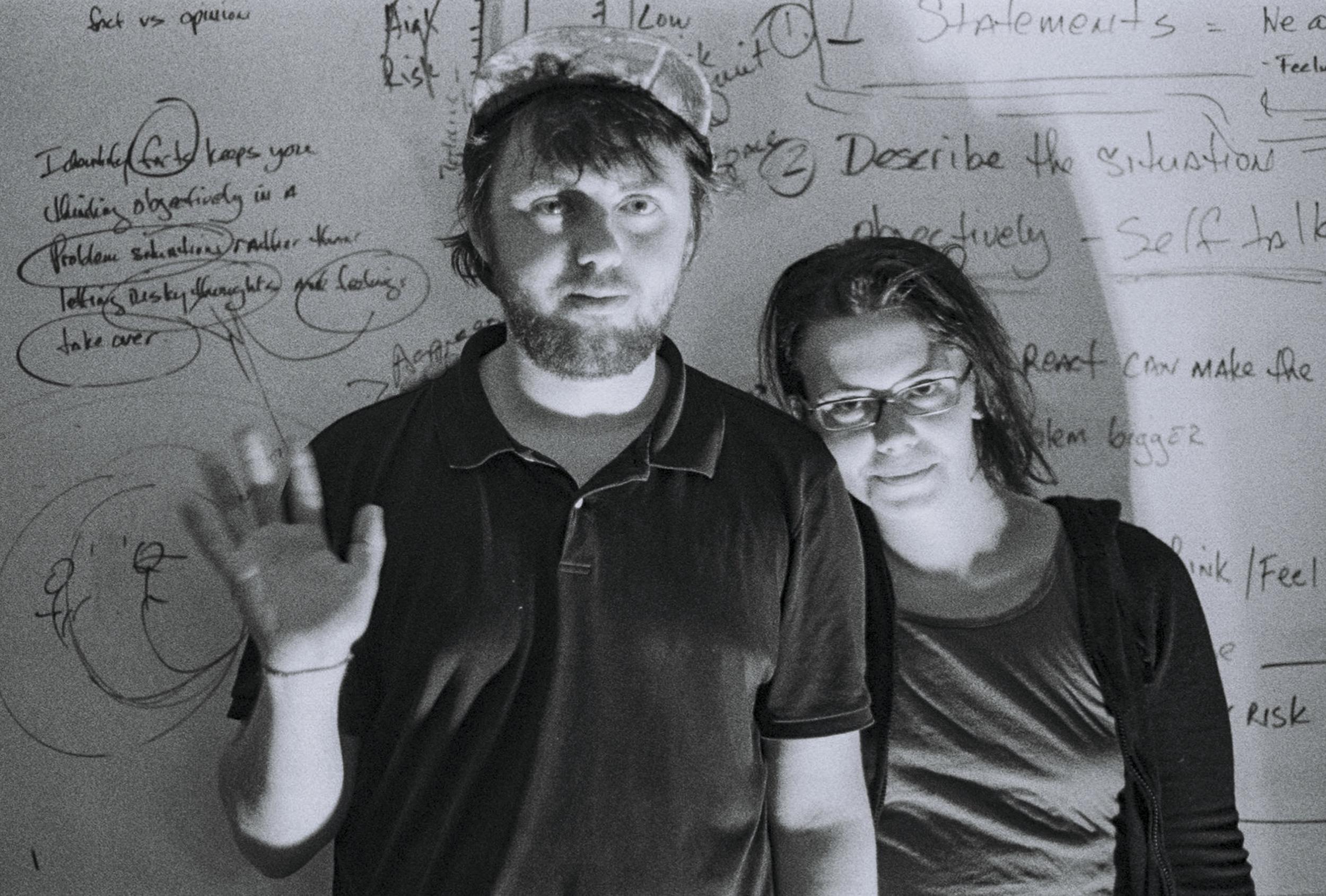 Mat Cothran and Delaney Mills of Elvis Depressedly.