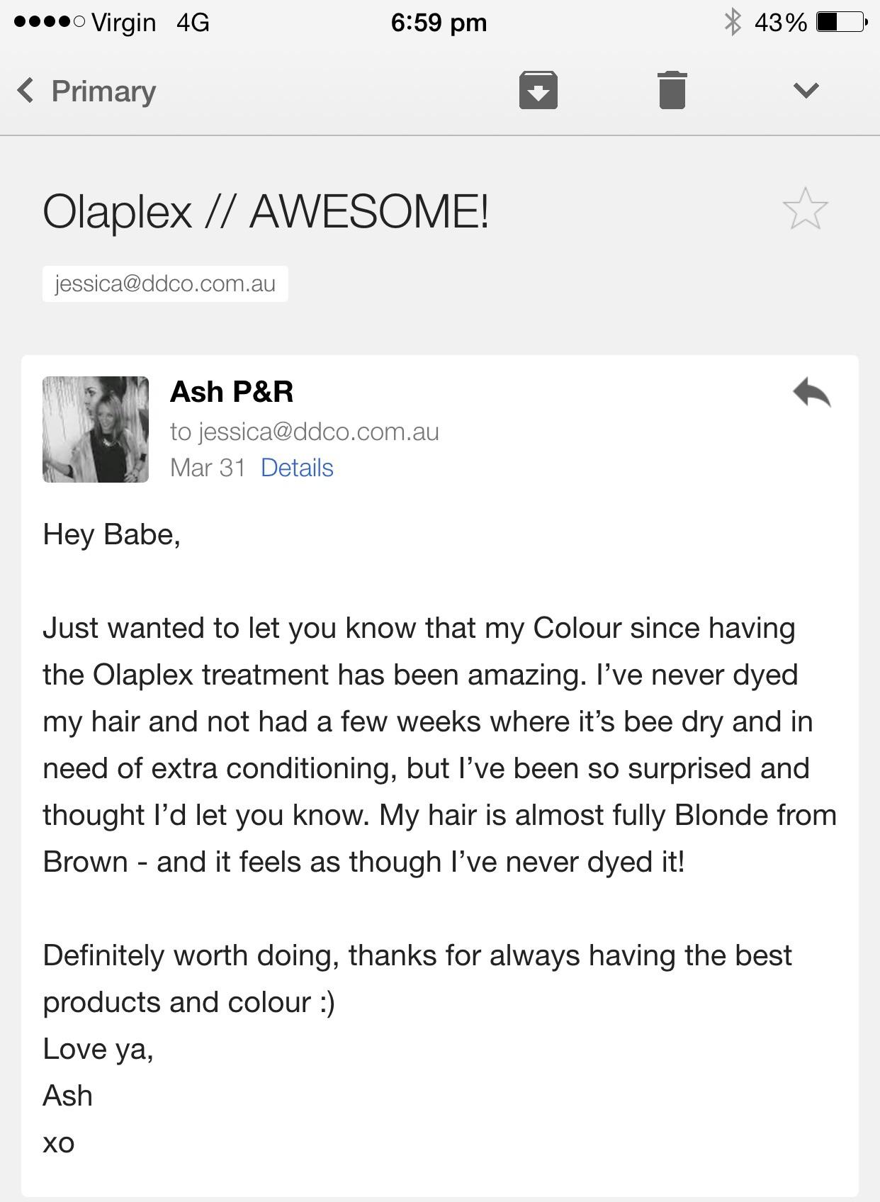 Best email -Olaplex