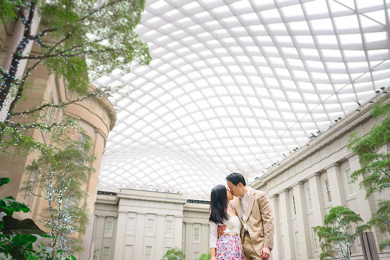 Smithsonian National Portrait Gallery engagement session photos