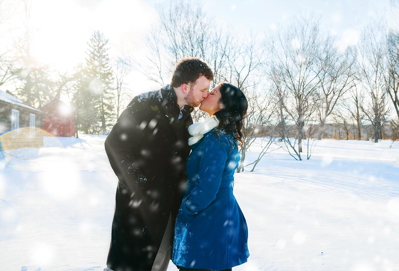 Washington DC snow engagement session photos