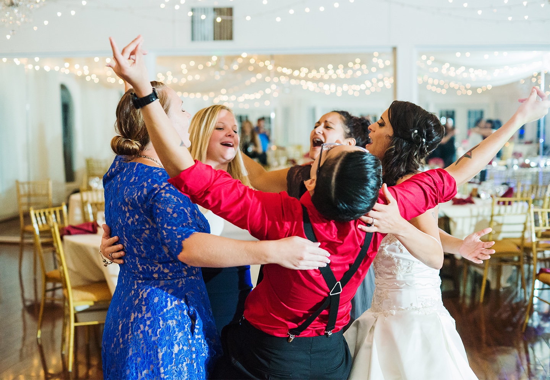 Wedding reception at Bristow Manor wedding