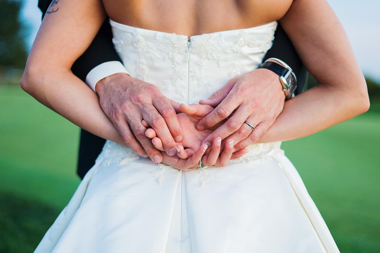 Bride and groom at Bristow Manor golf club in Virginia