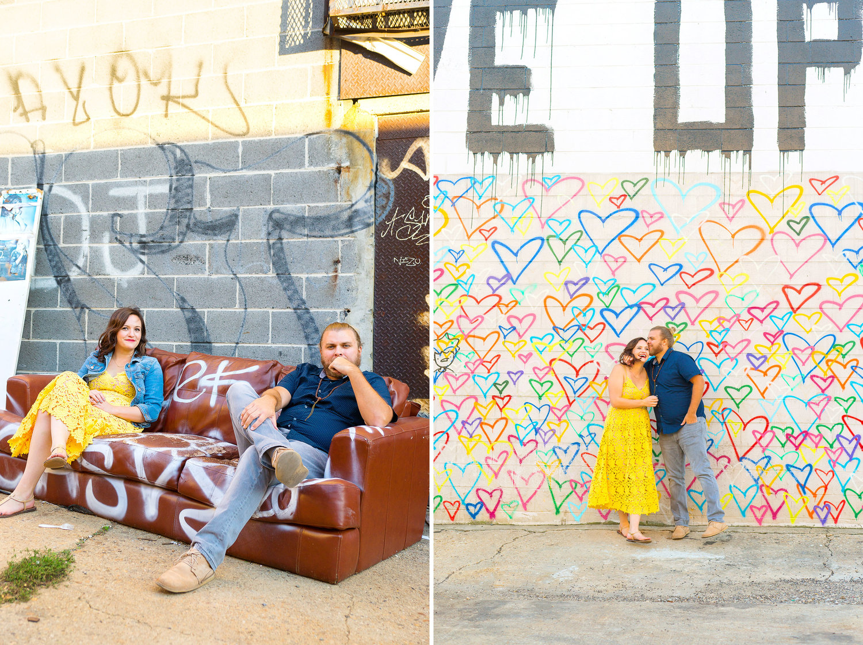 Fun graffiti union market engagement photos by Jessica Nazarova