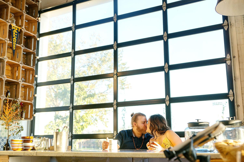 Union Market coffee shop engagement photos by Jessica Nazarova