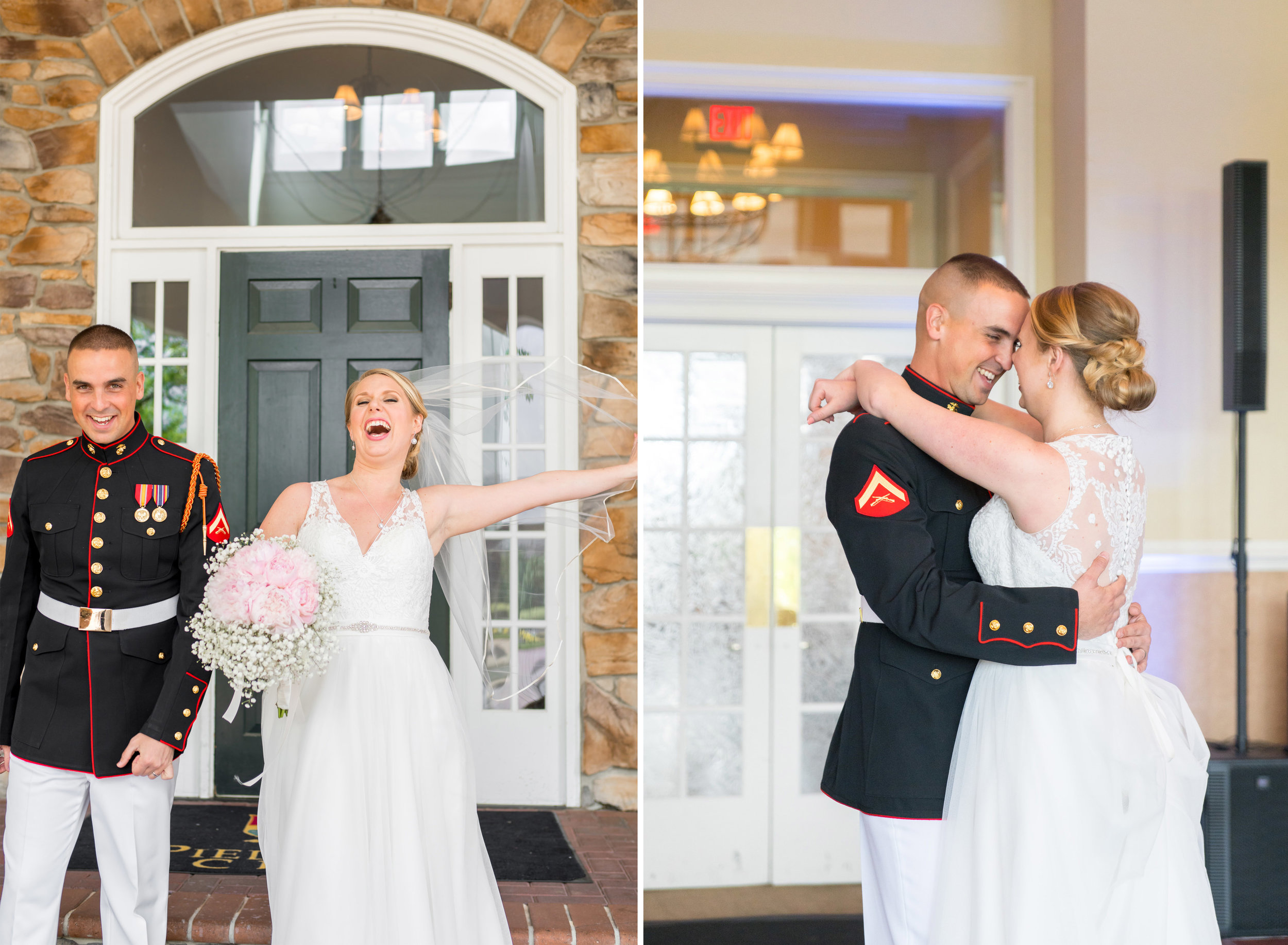 A windy day and a first dance with bride and groom at Piedmont Golf Course wedding
