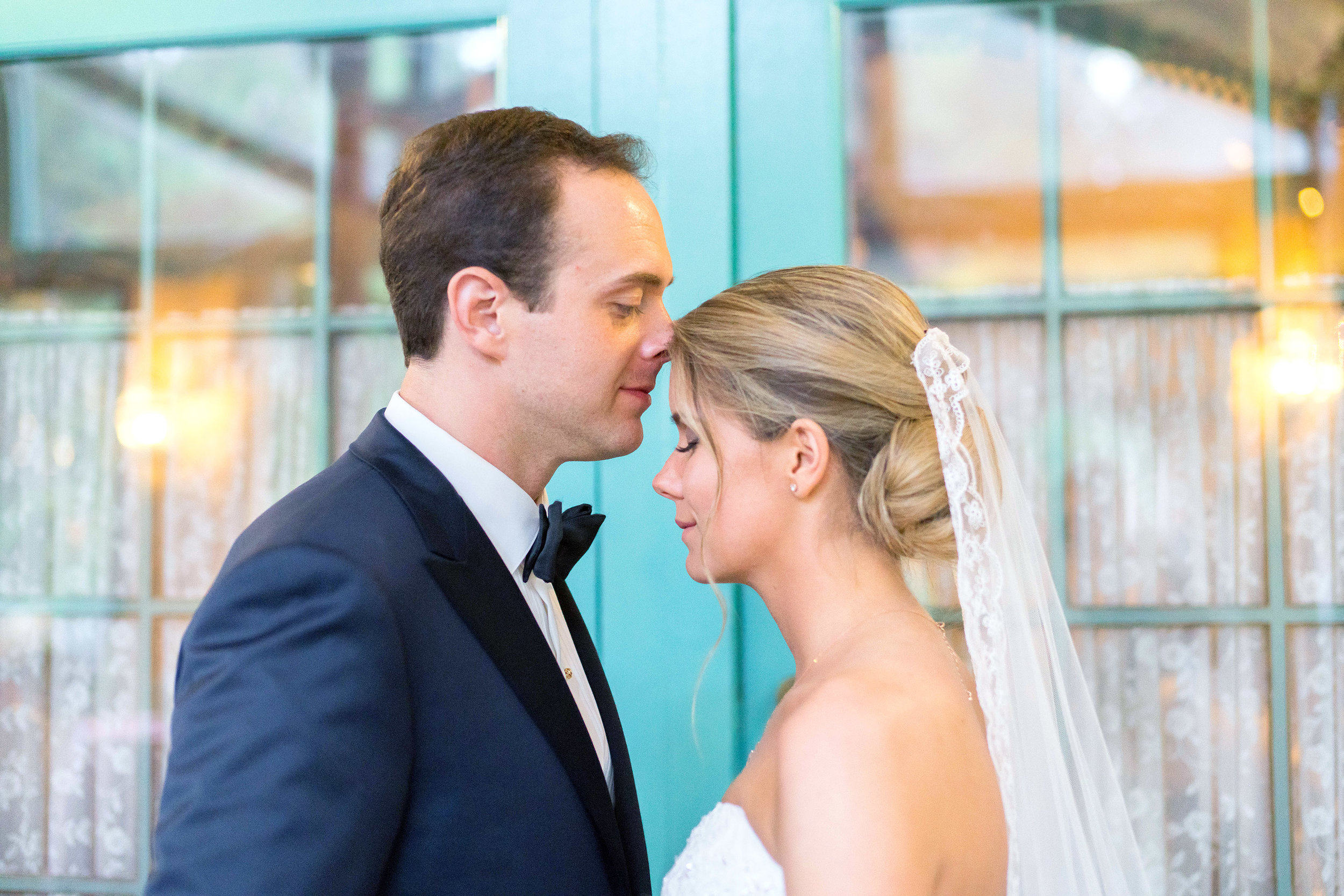 Bride and groom portraits in chevy chase maryland