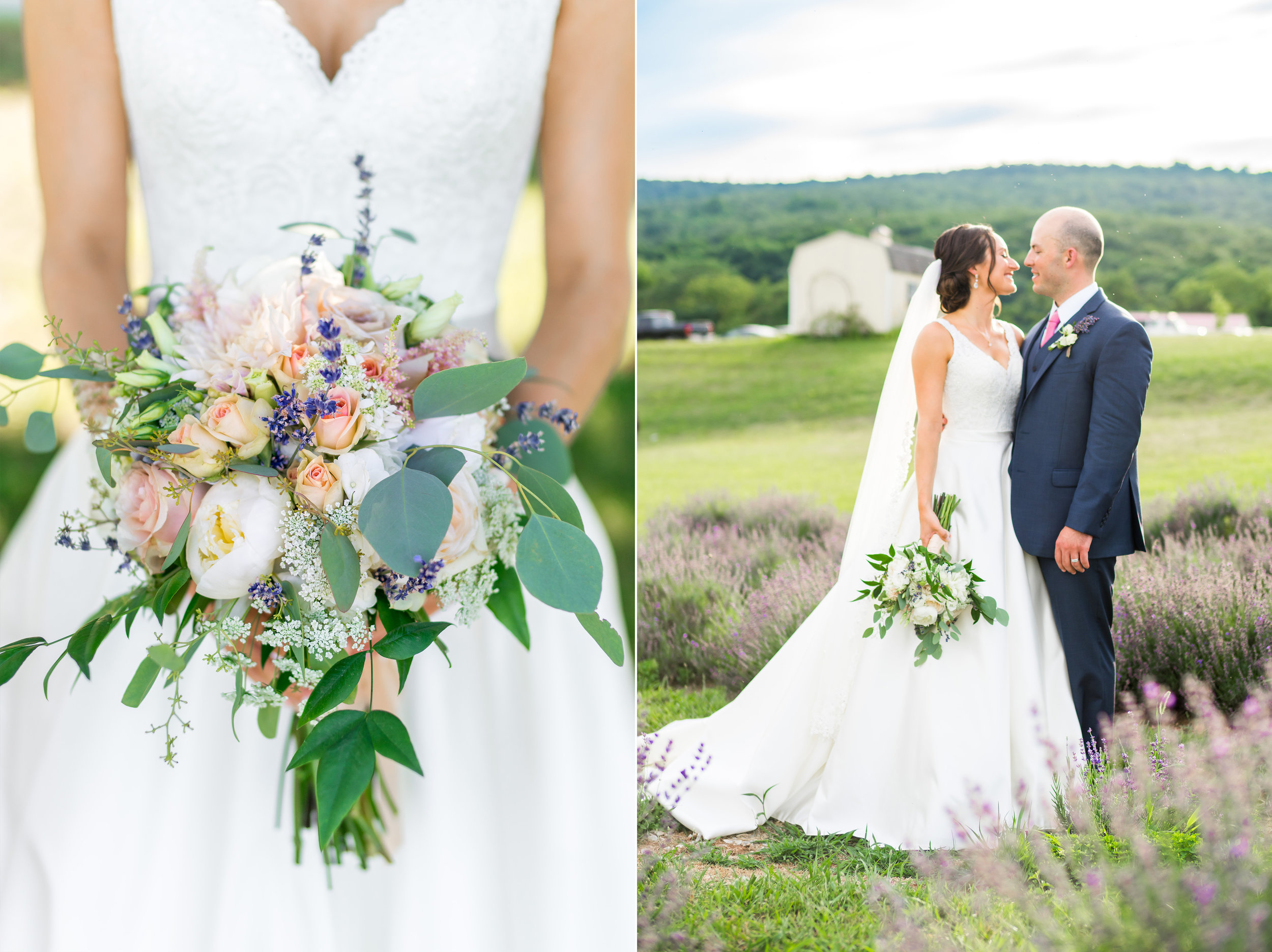 Wedding photos in lavender fields Maryland and Virginia