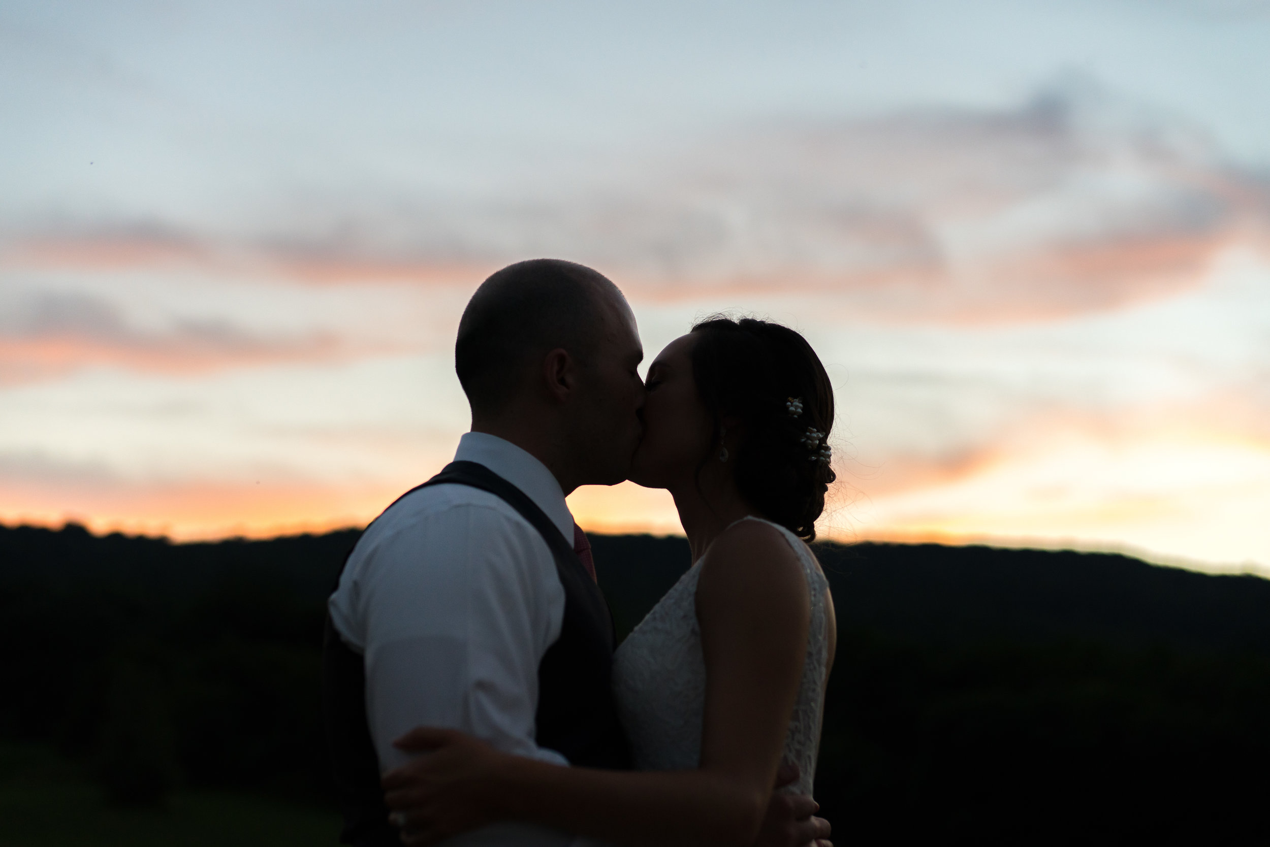 Bride and groom silhouette photo in Washington DC