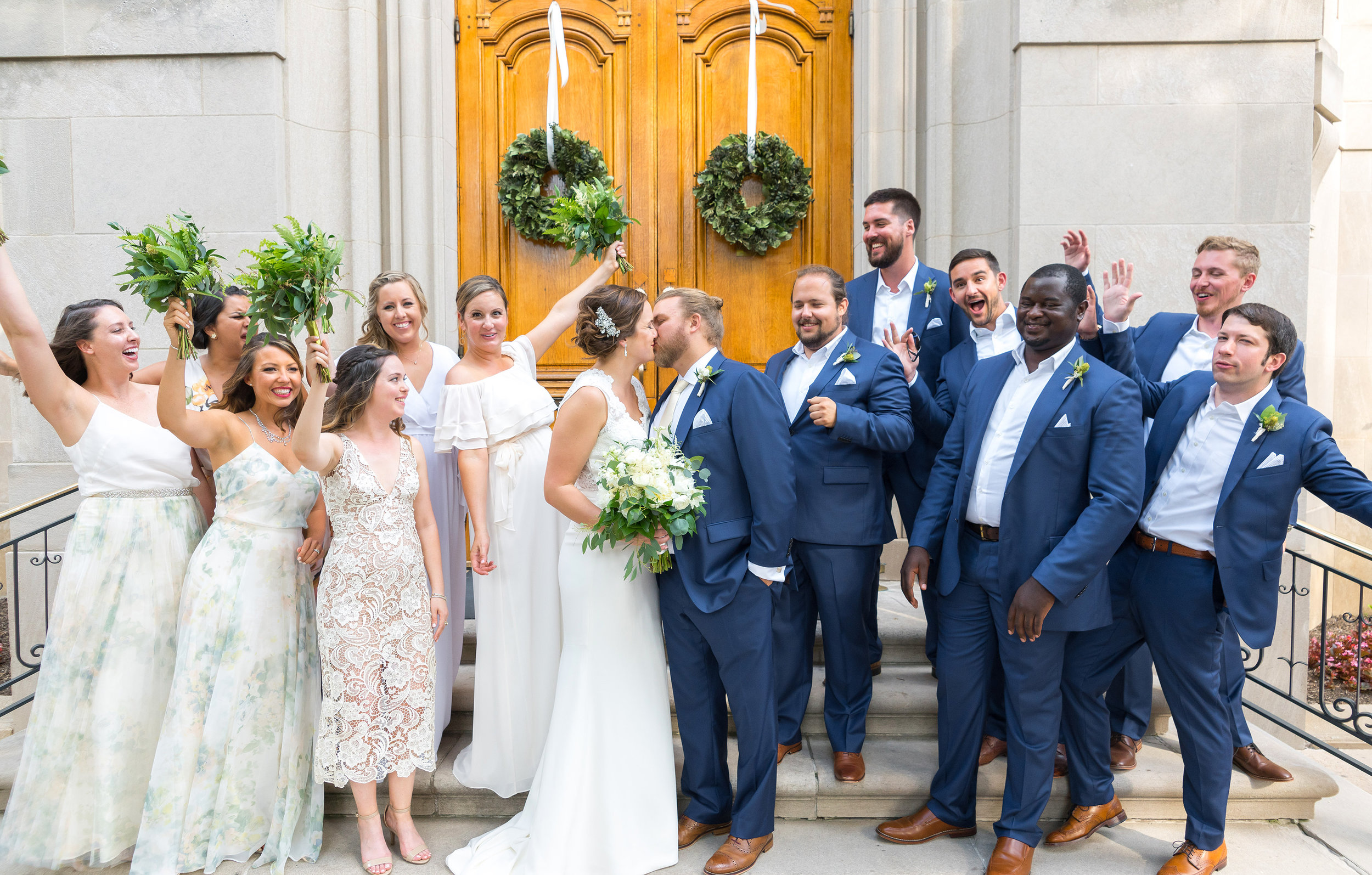 Meridian house front doors bridal party