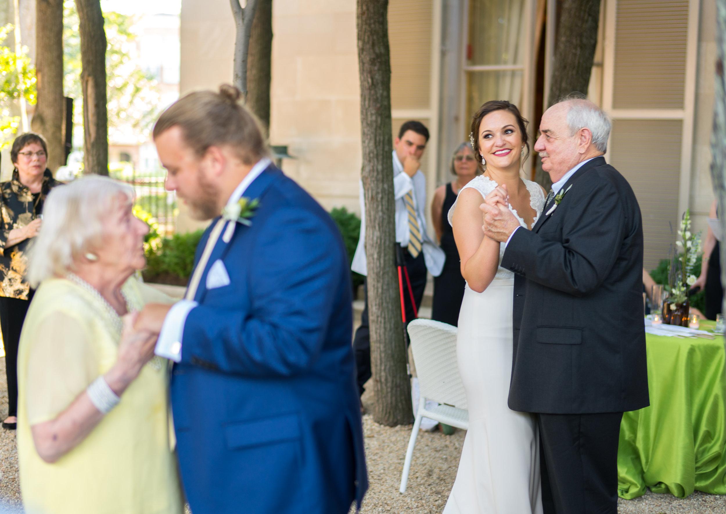 Grandparents dancing at a wedding at meridian house international