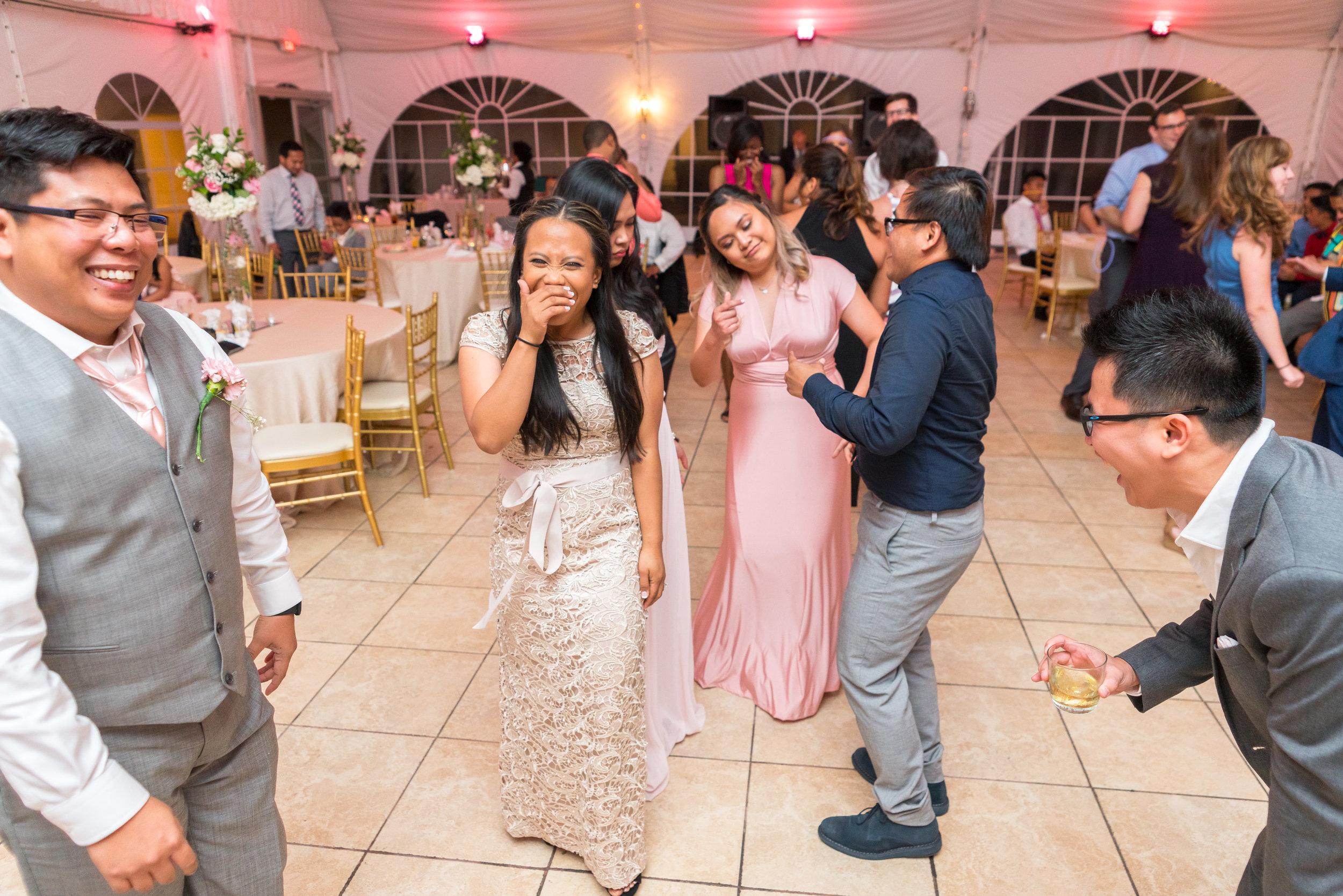Wedding reception at The Villa in Maryland