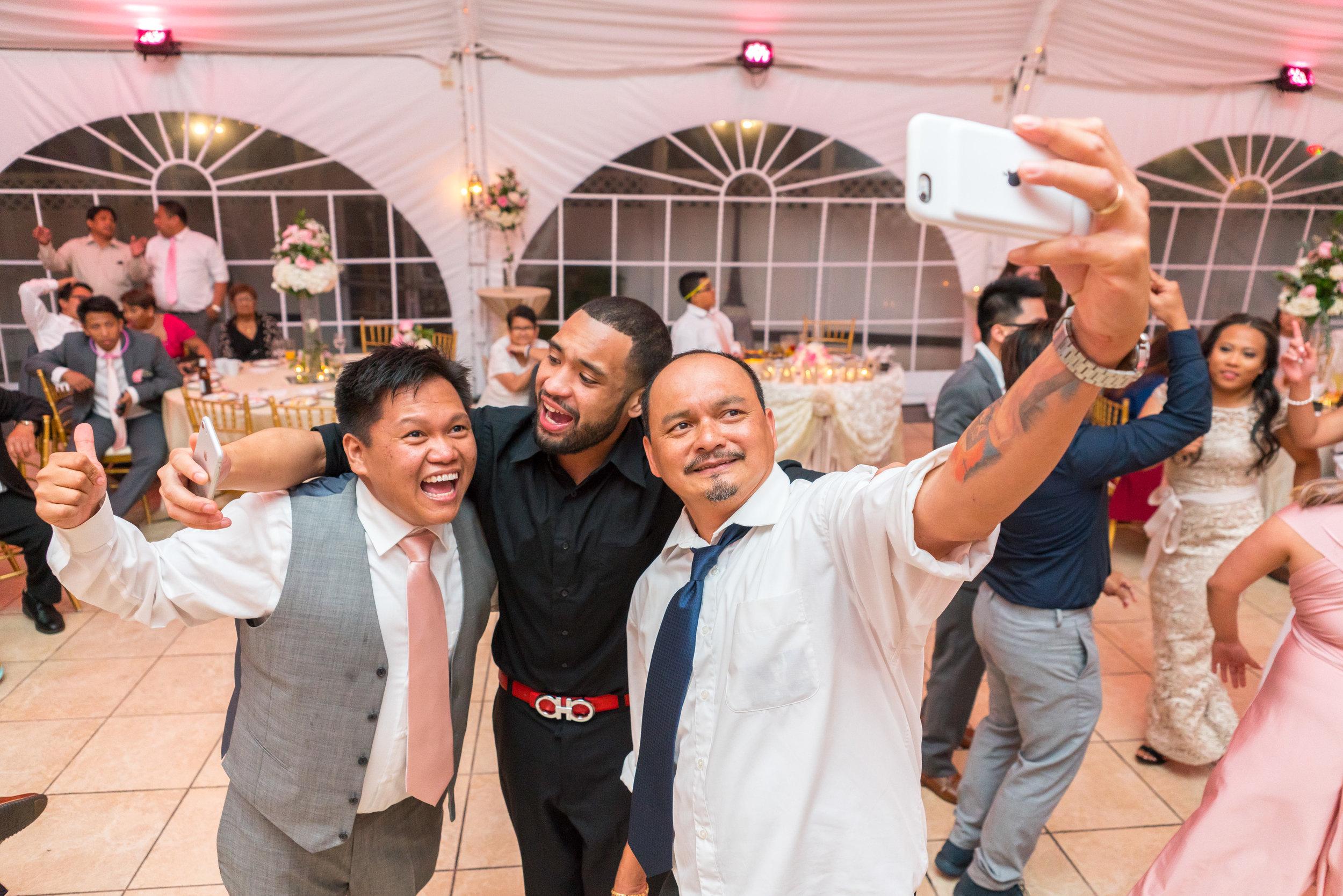 Wedding selfie photo at The Villa in Beltsville