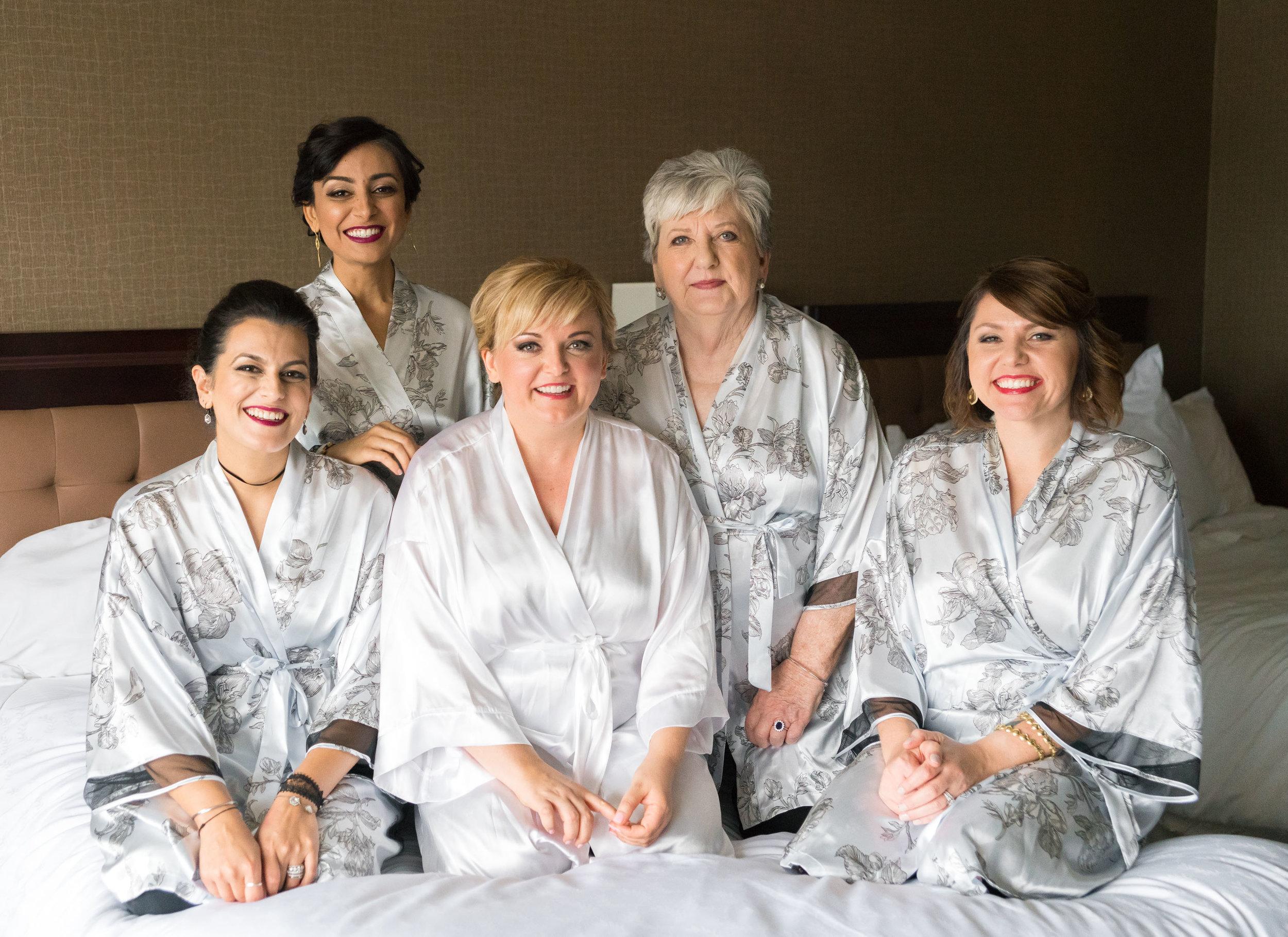 Bridesmaids at reston sheraton hotel