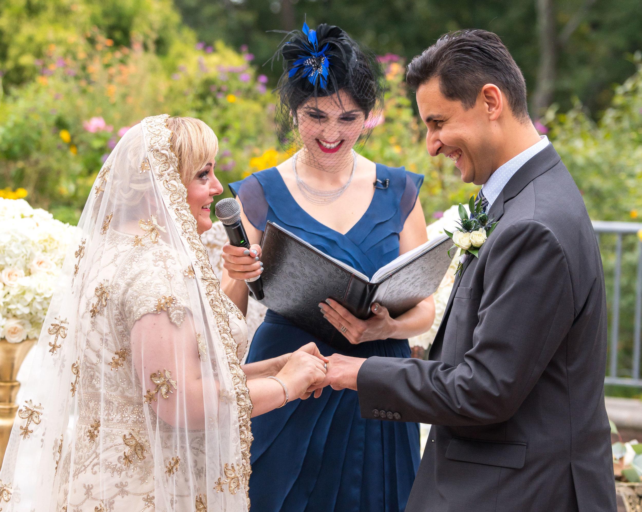 Wedding ceremony at Meadowlark Botanical Gardens