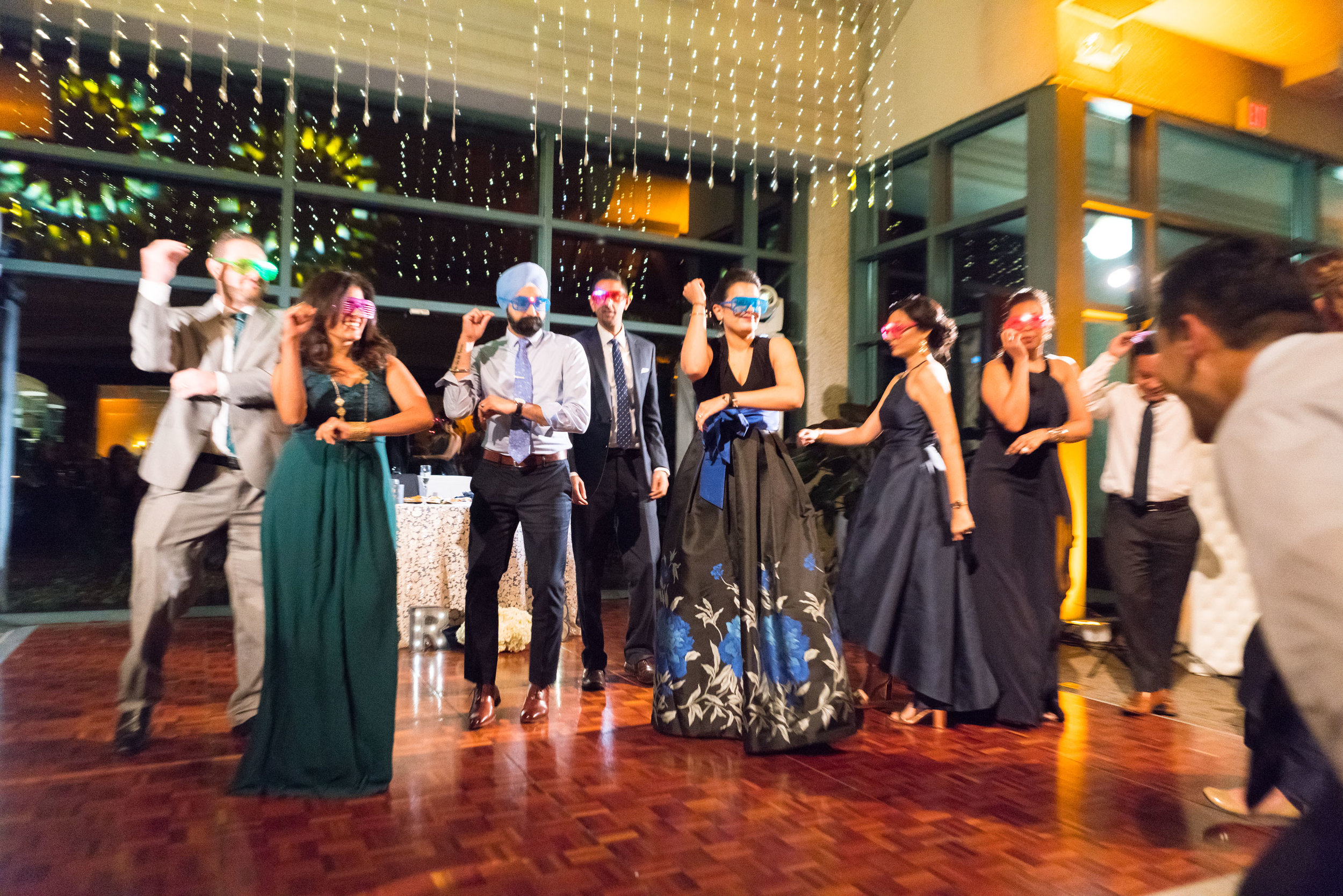 Choreographed flash mob dance wedding photos