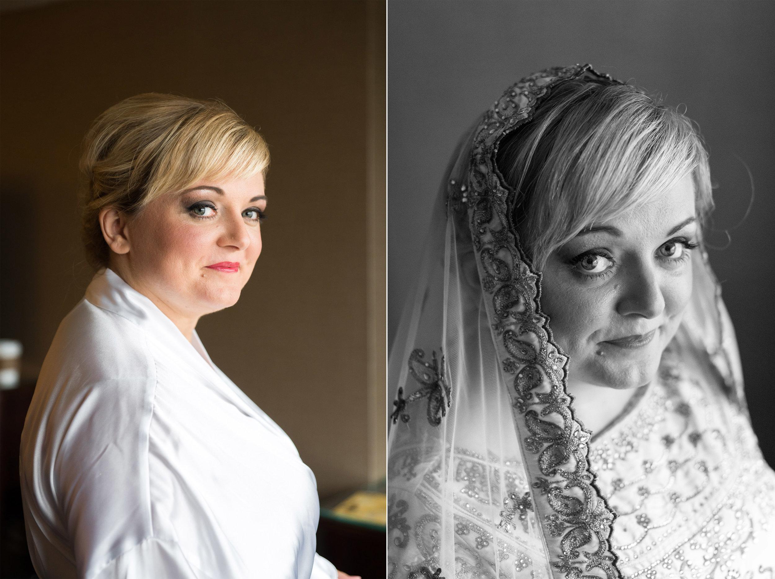 persian fusion bridal portrait at reston sheraton hotel