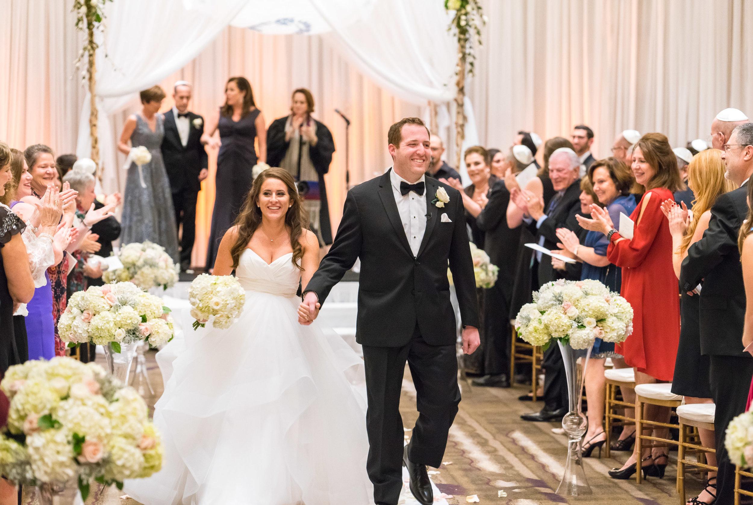 gorgeous hayley paige Londyn dress at Jewish wedding in DC
