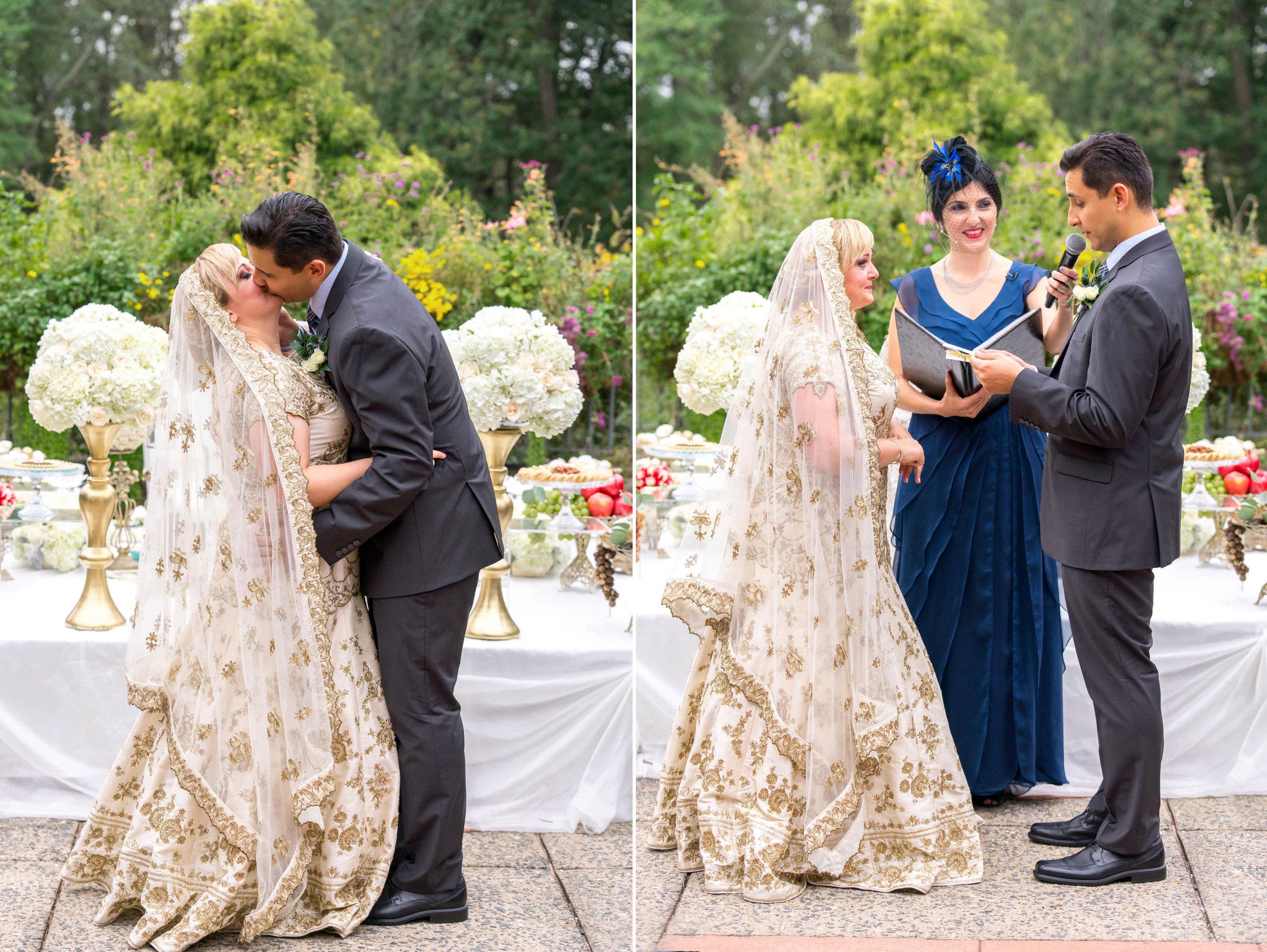 wedding ceremony at meadowlark botanical garden
