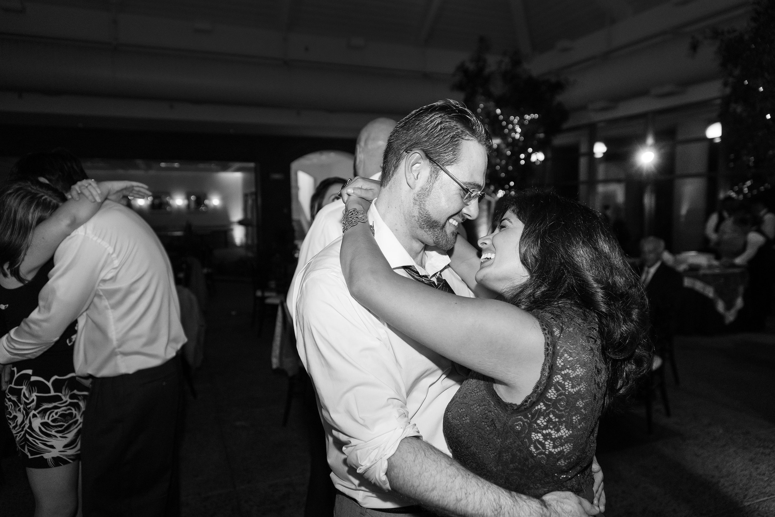 Dance floor at meadowlark botanical garden wedding reception