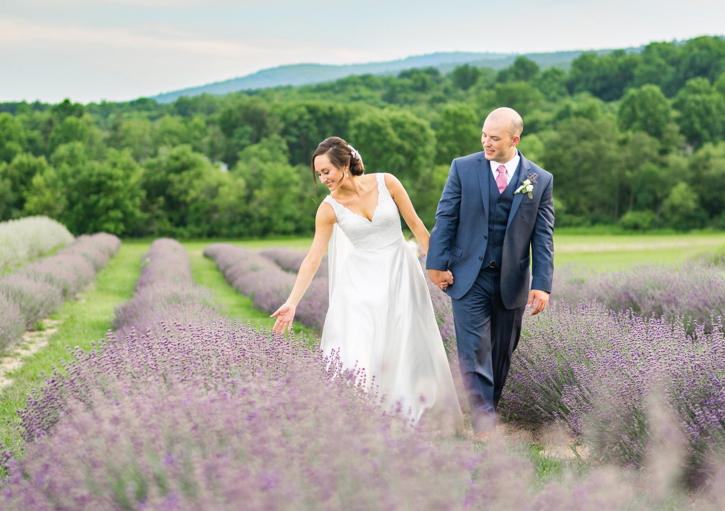 Springfield Manor Winery and Distillery wedding photos lavender
