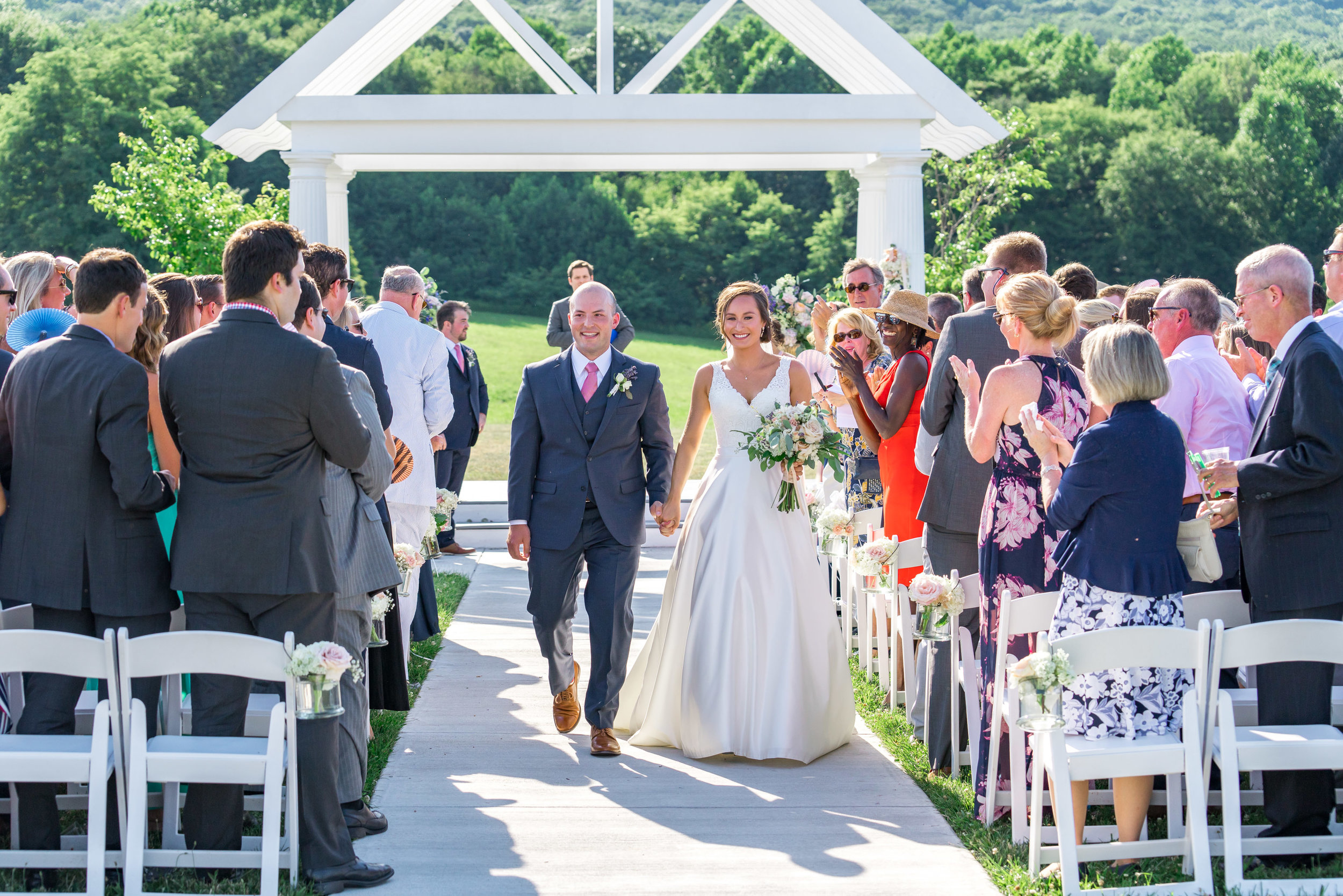 Springfield Manor Winery ceremony with bride and groom by jessica nazarova