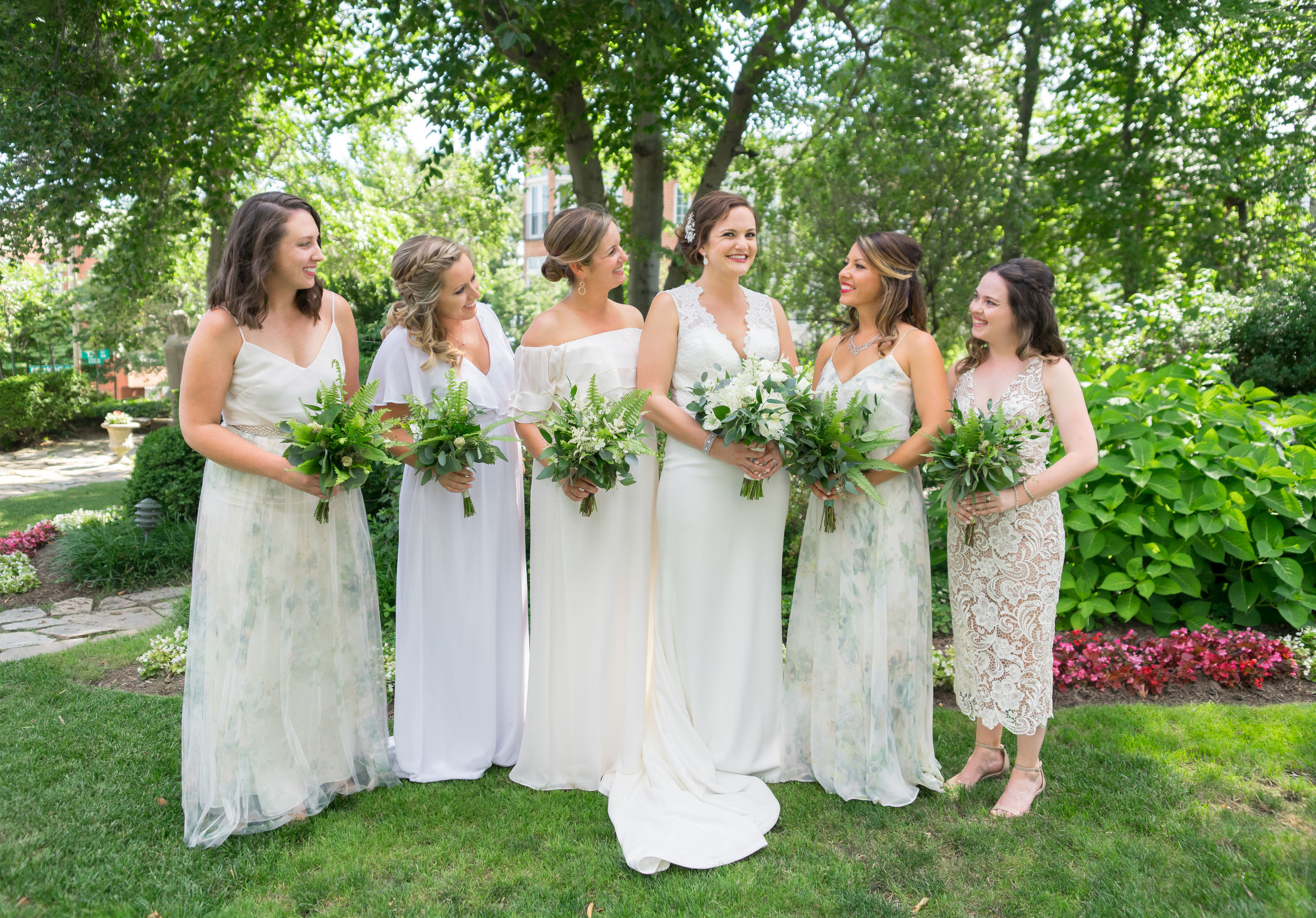 Bride and bridesmaids getting ready at Meridian House in DC by jessica nazarova
