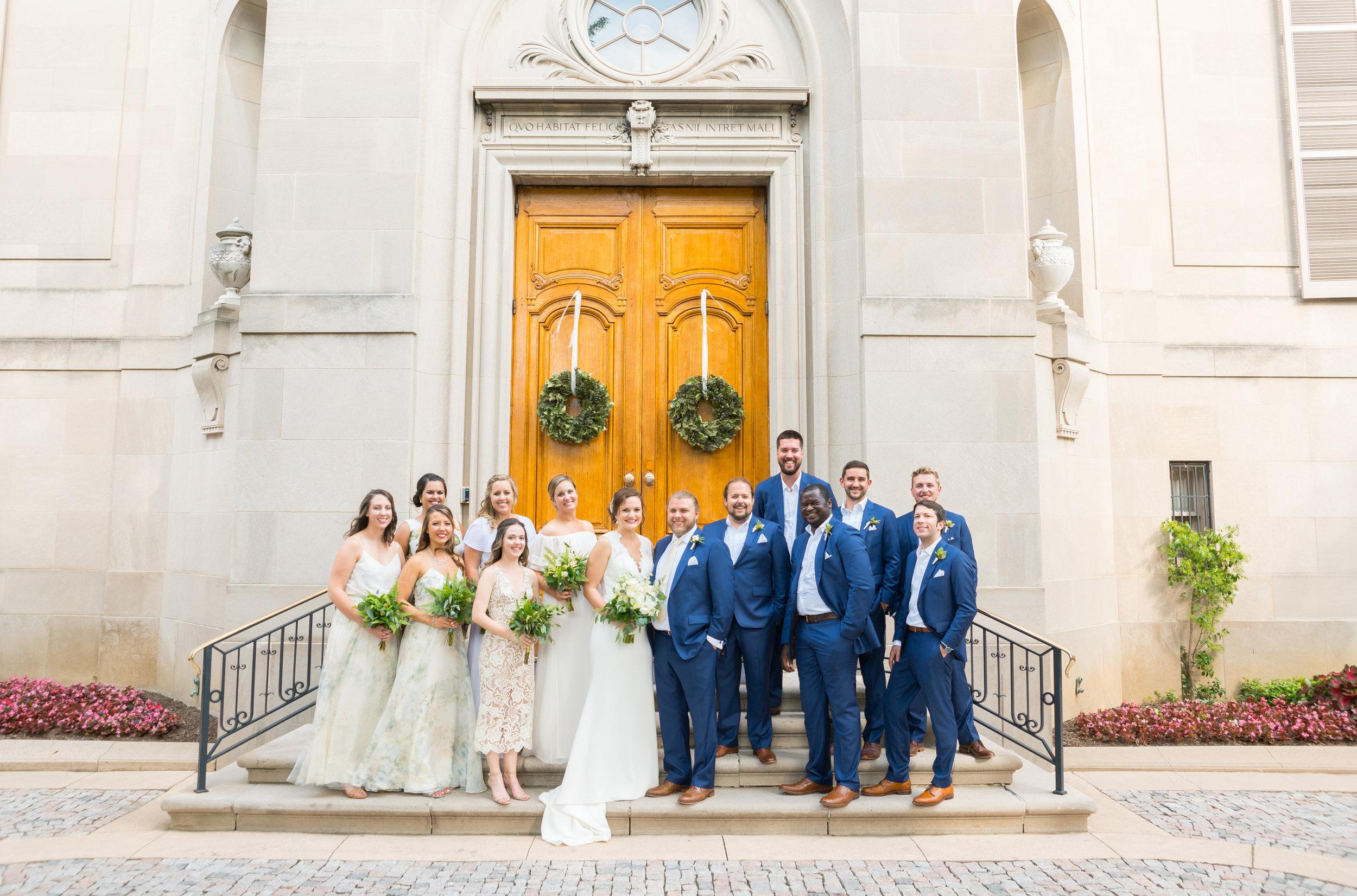 Meridian House front door wedding photos by jessica nazarova