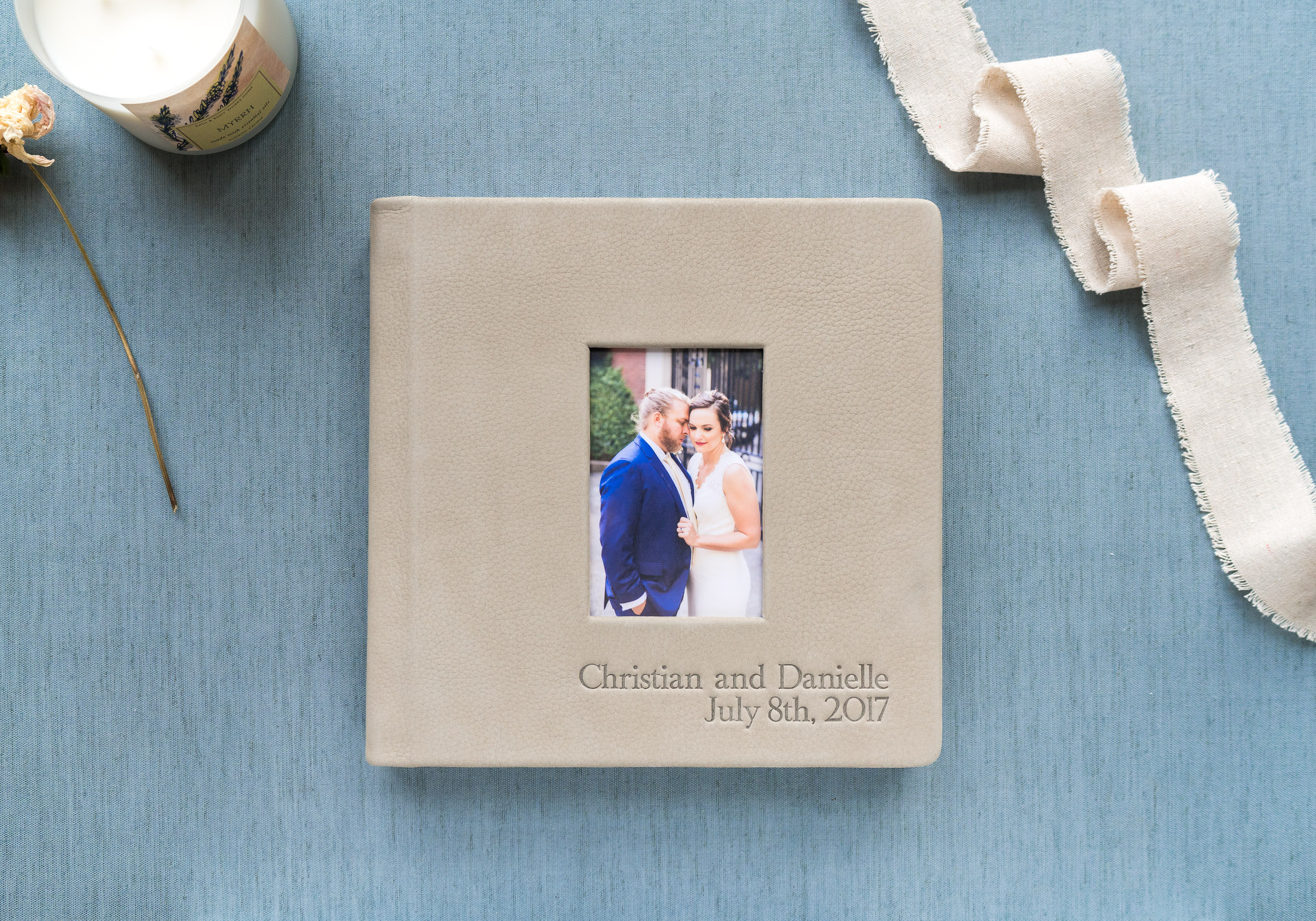 red tree fog leather wedding album jessica nazarova