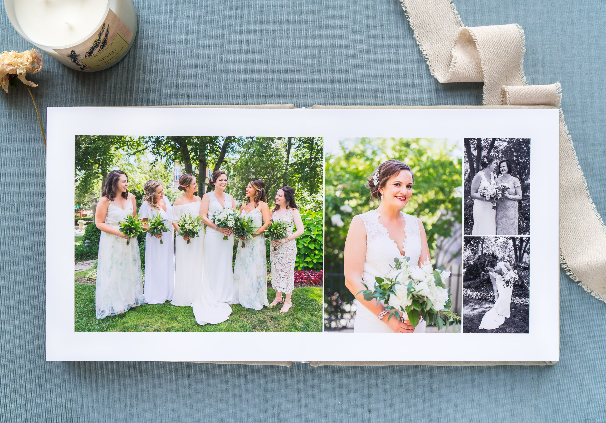 Luxury leather wedding photo album by RedTree