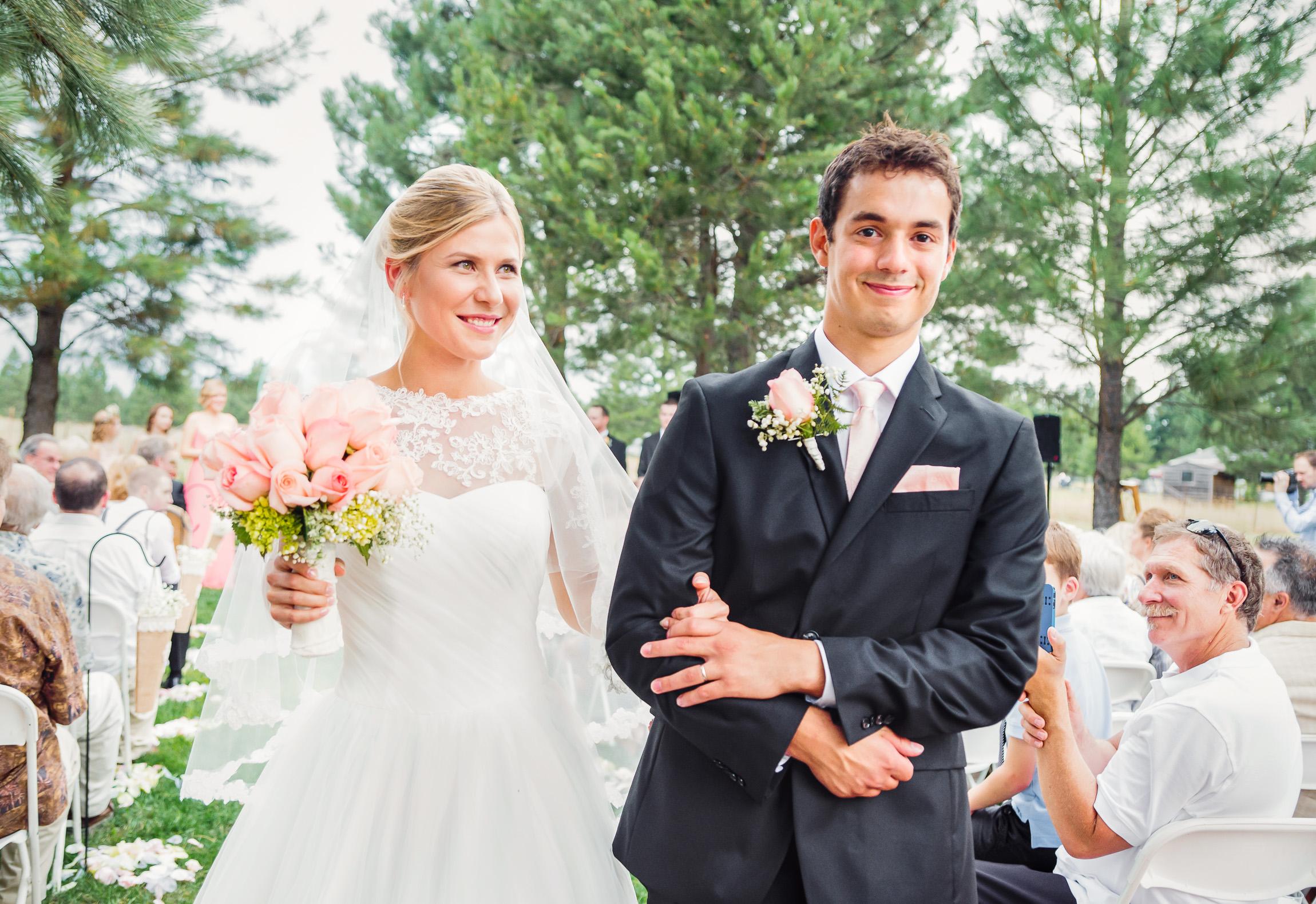 Walking down the aisle DIY wedding by Jessica Nazarova