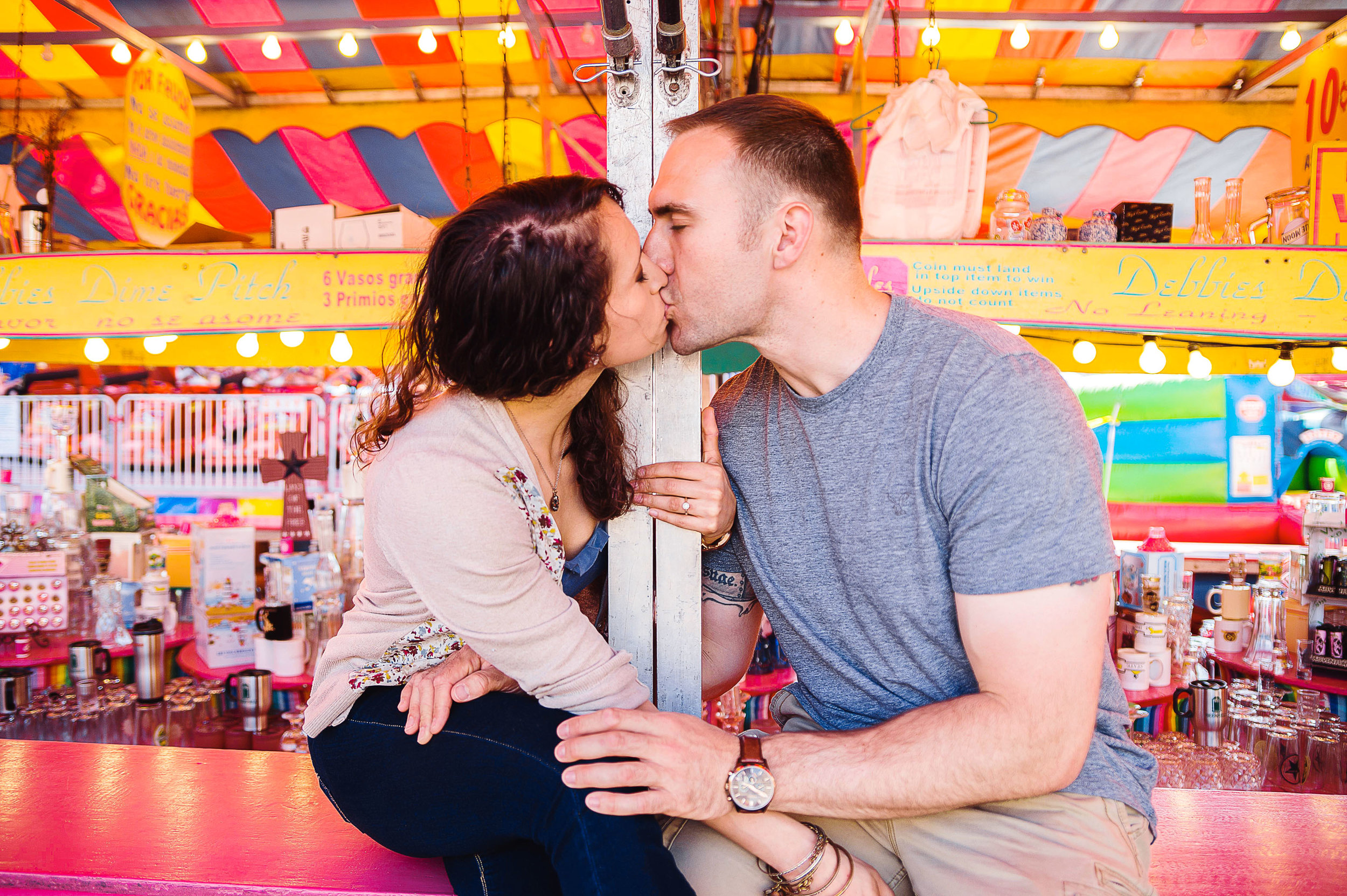 Colorful county fair virginia engagement session by Jessica Nazarova