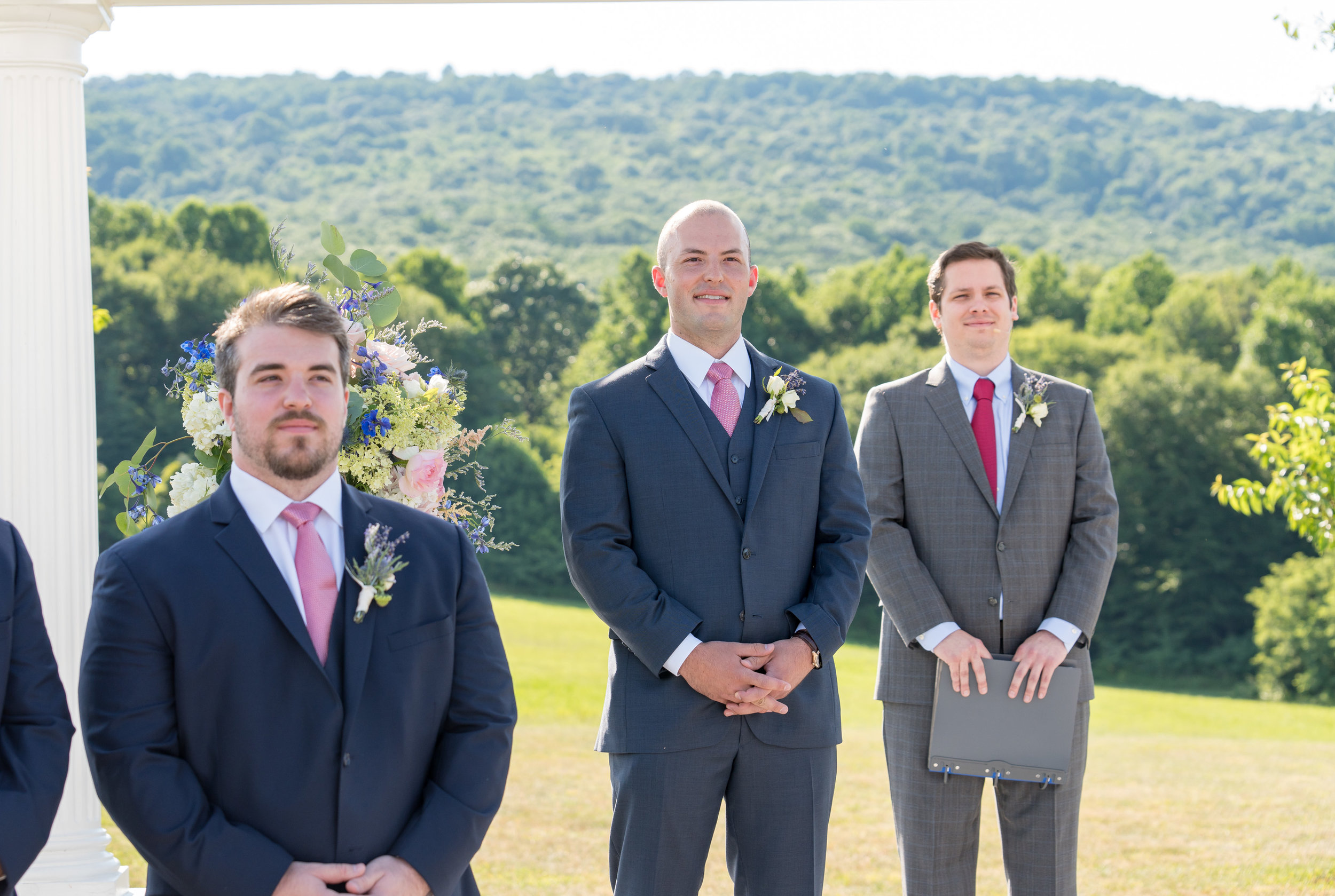 Wedding ceremony photos at Springfield Manor Winery and Distillery