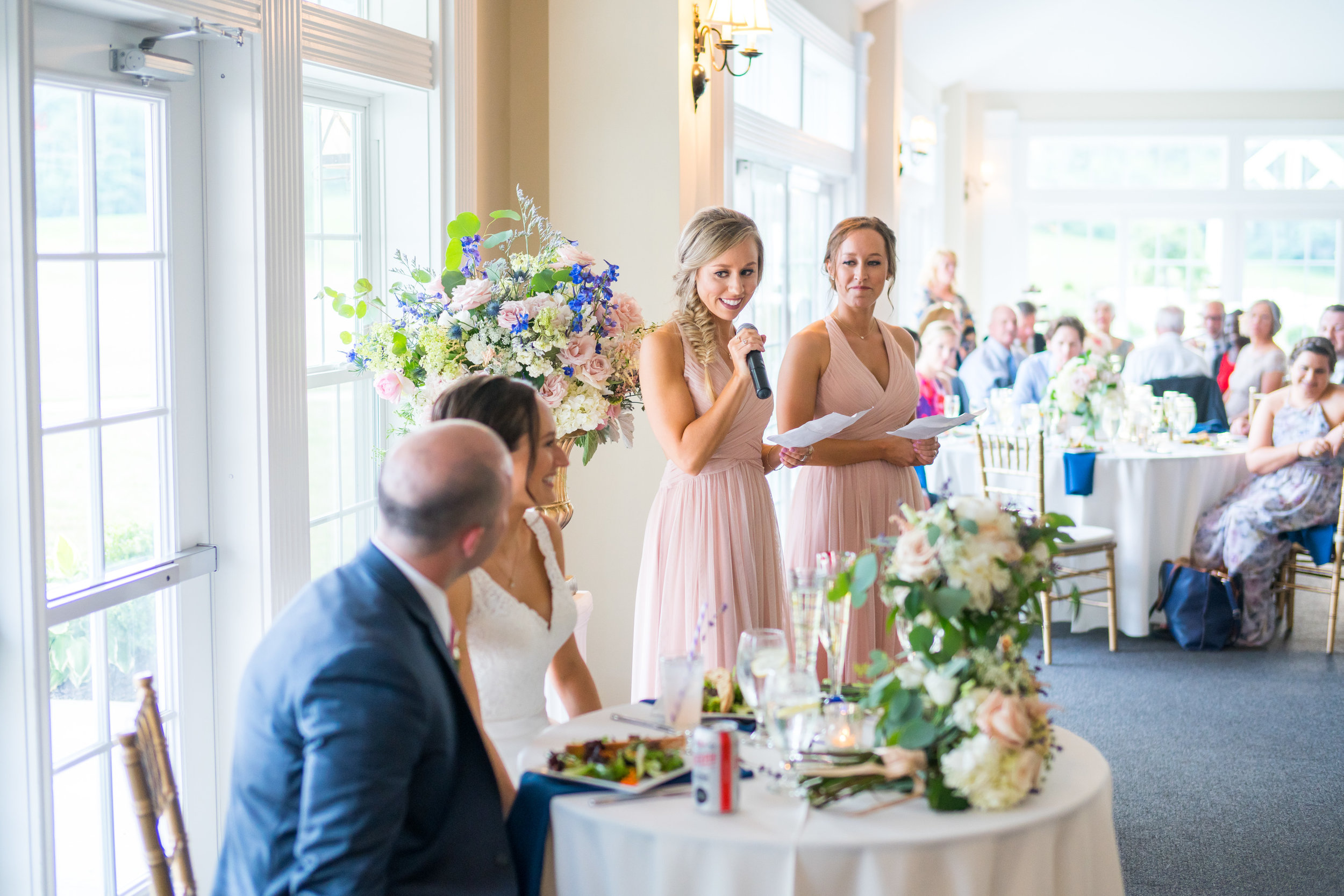 Bridesmaids toasts at Springfield Manor Winery and Distillery