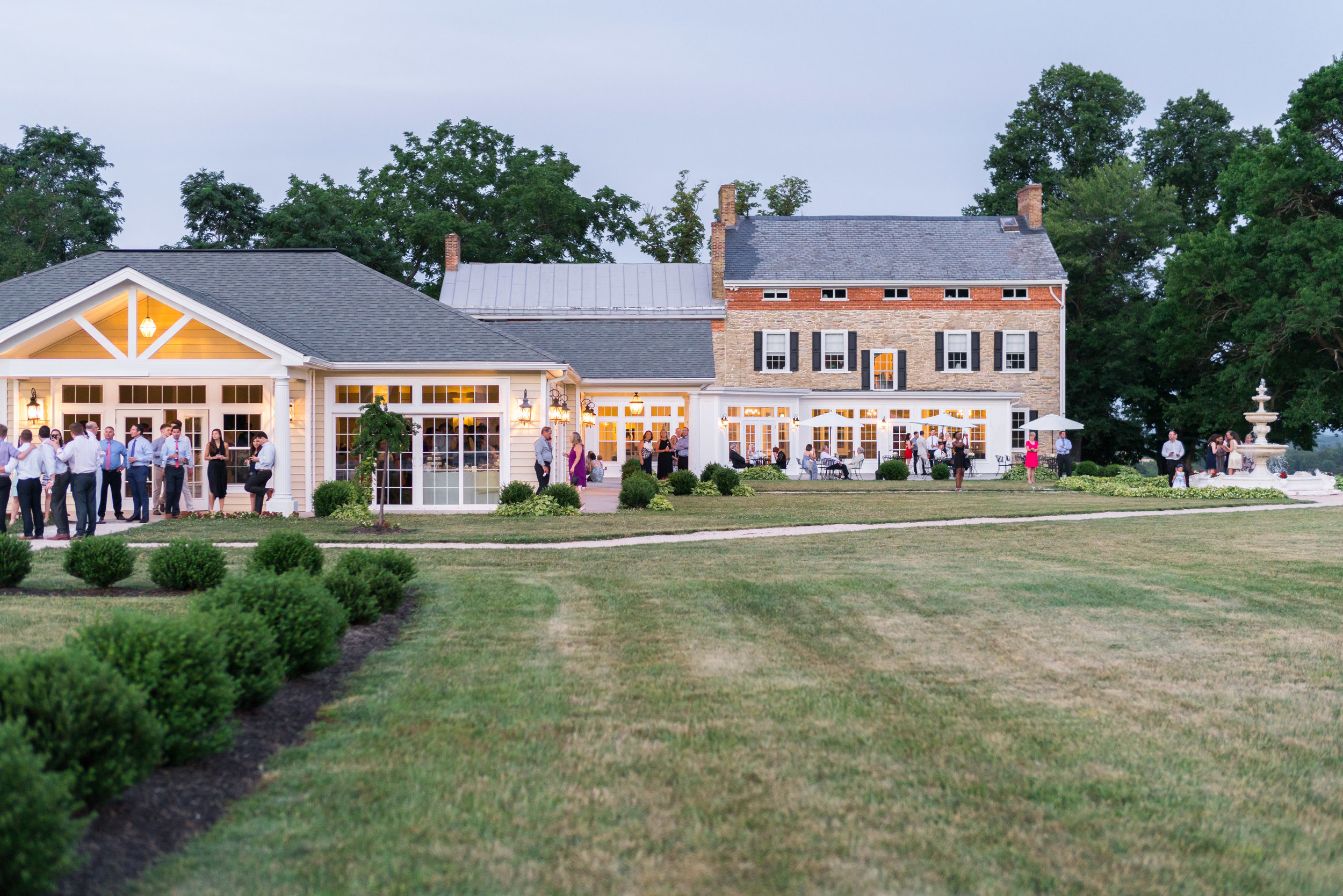 Sunset reception photos at Springfield Manor Winery and Distillery