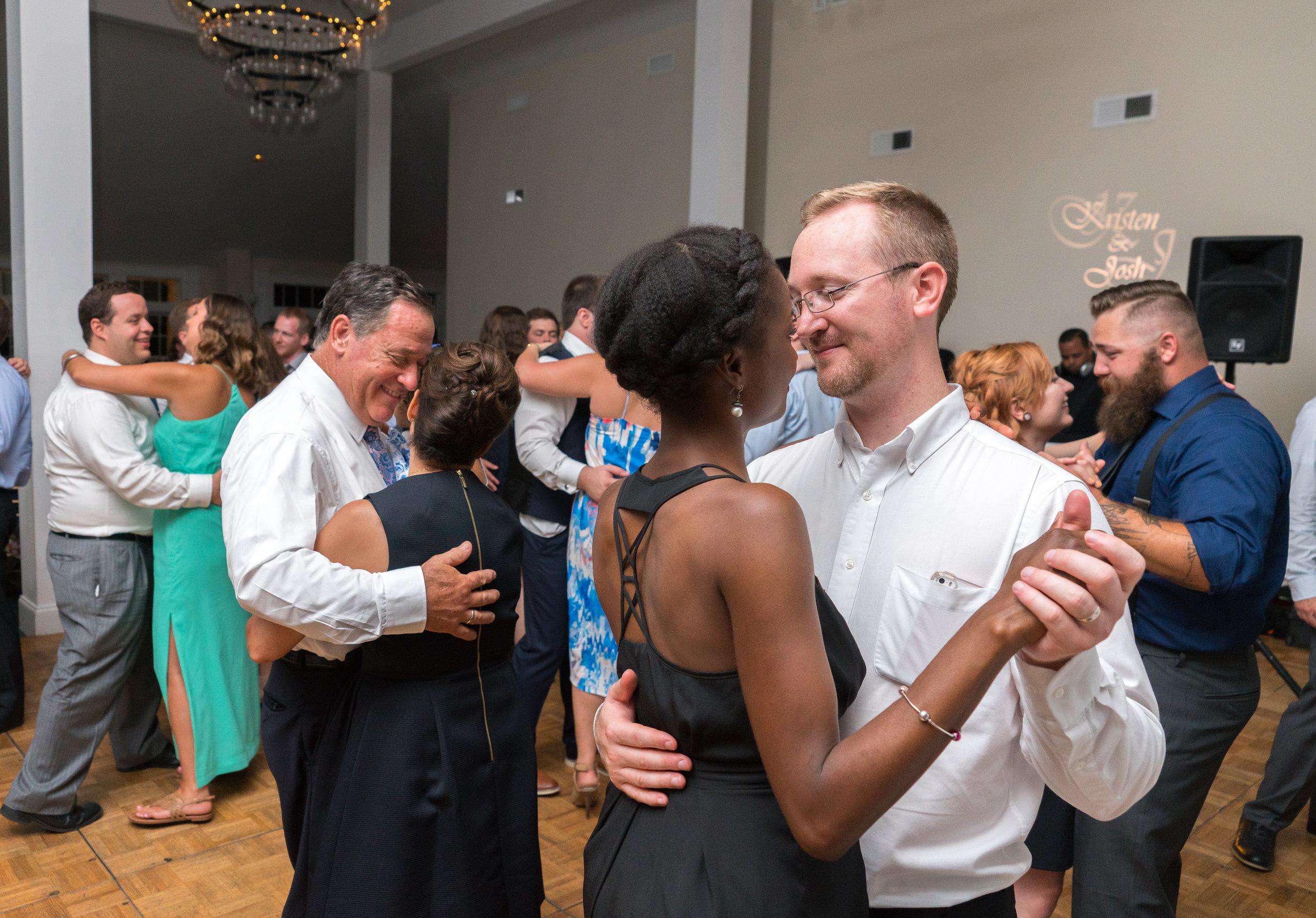 Slow dance during wedding reception at Springfield Manor Distillery